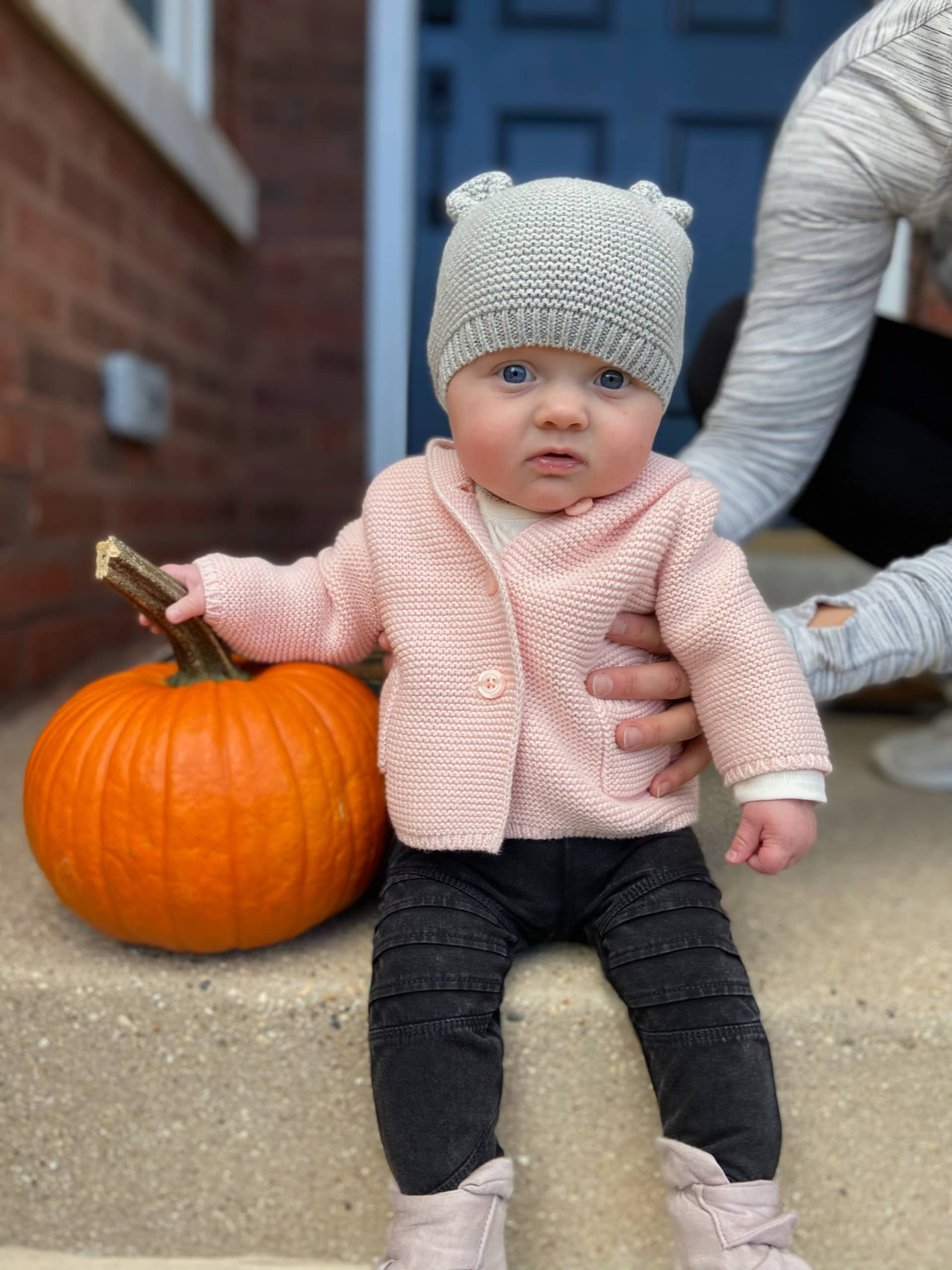 Rory's first pumpkin