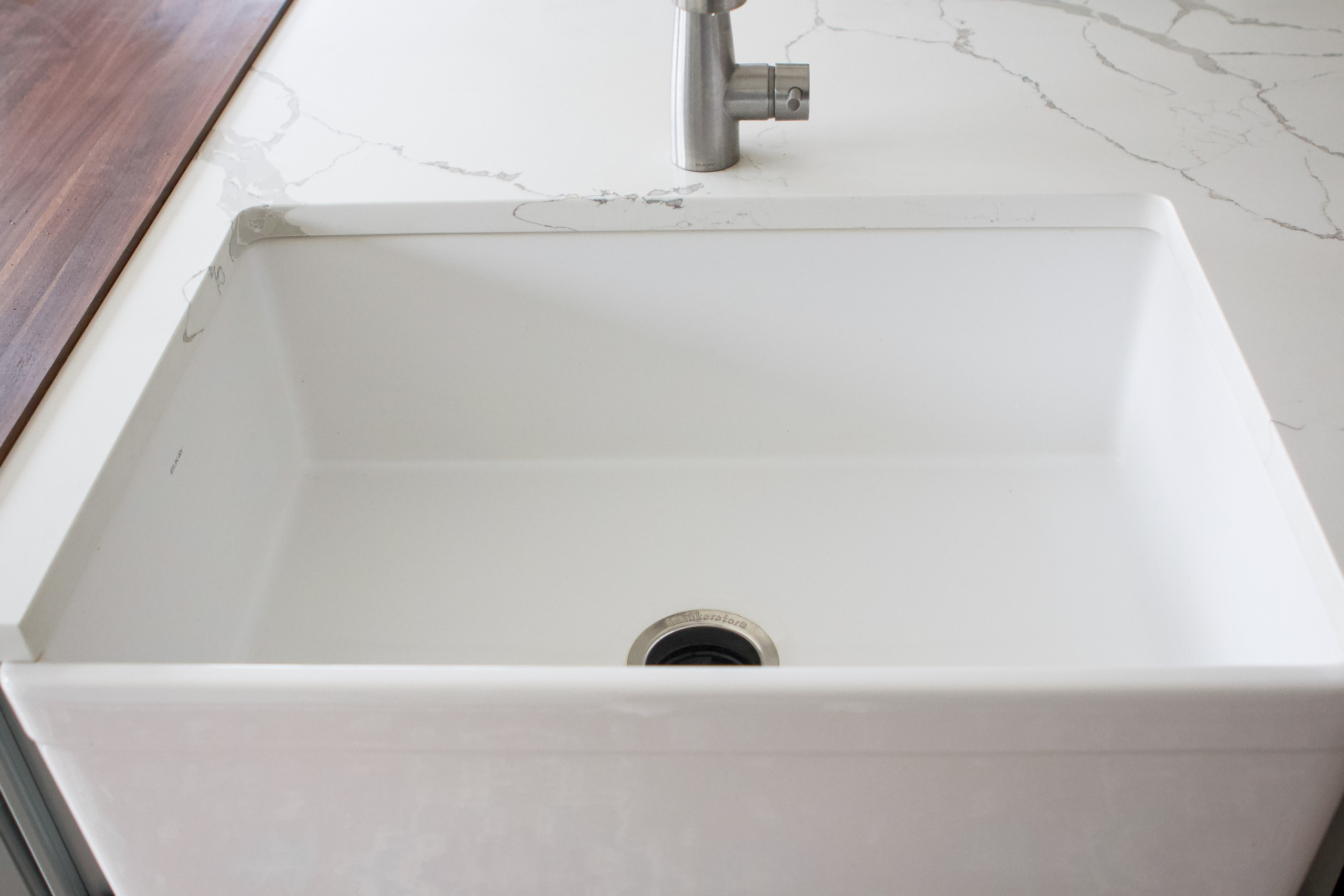 Our deep kitchen sink from Elkay