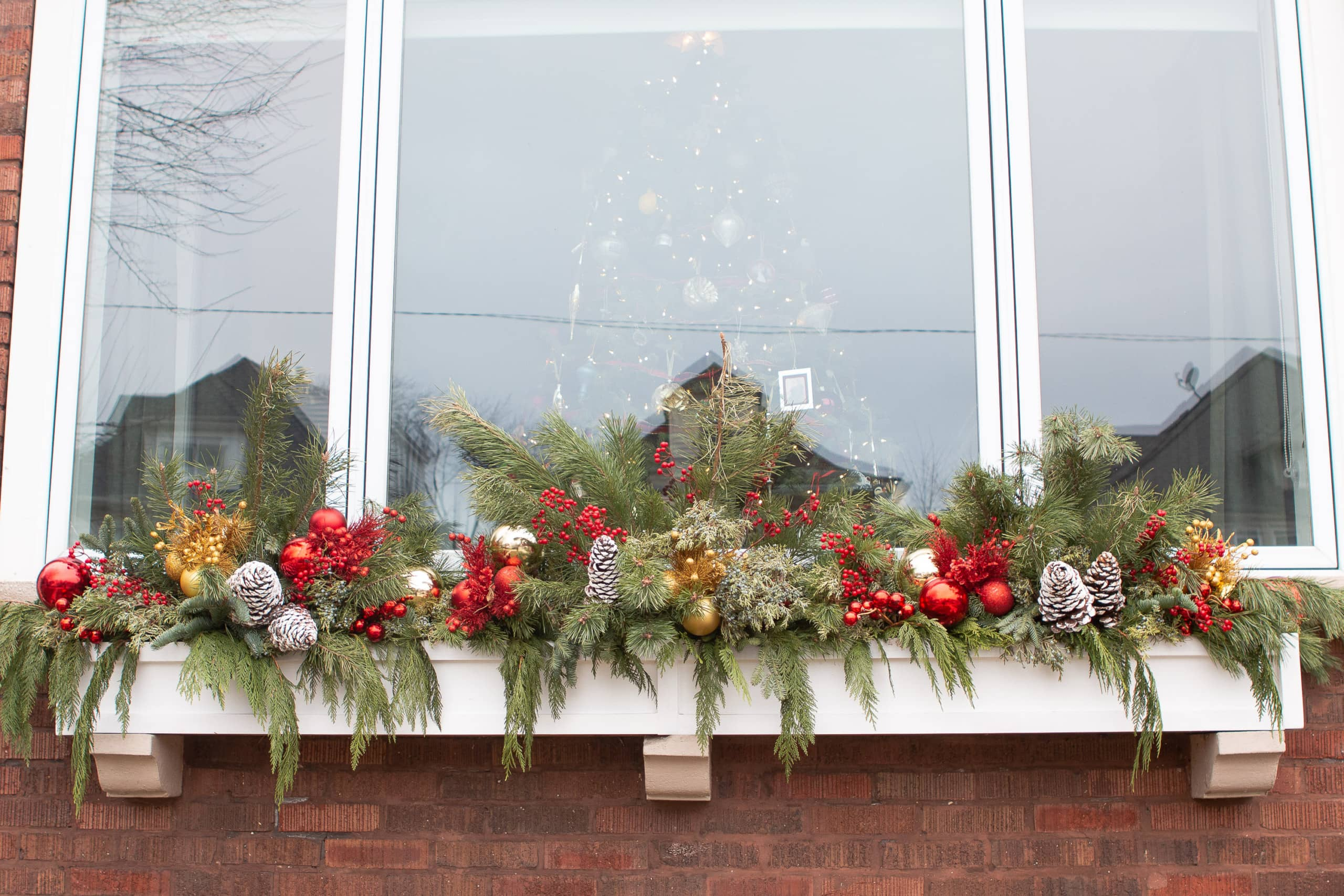 Our holiday front window box