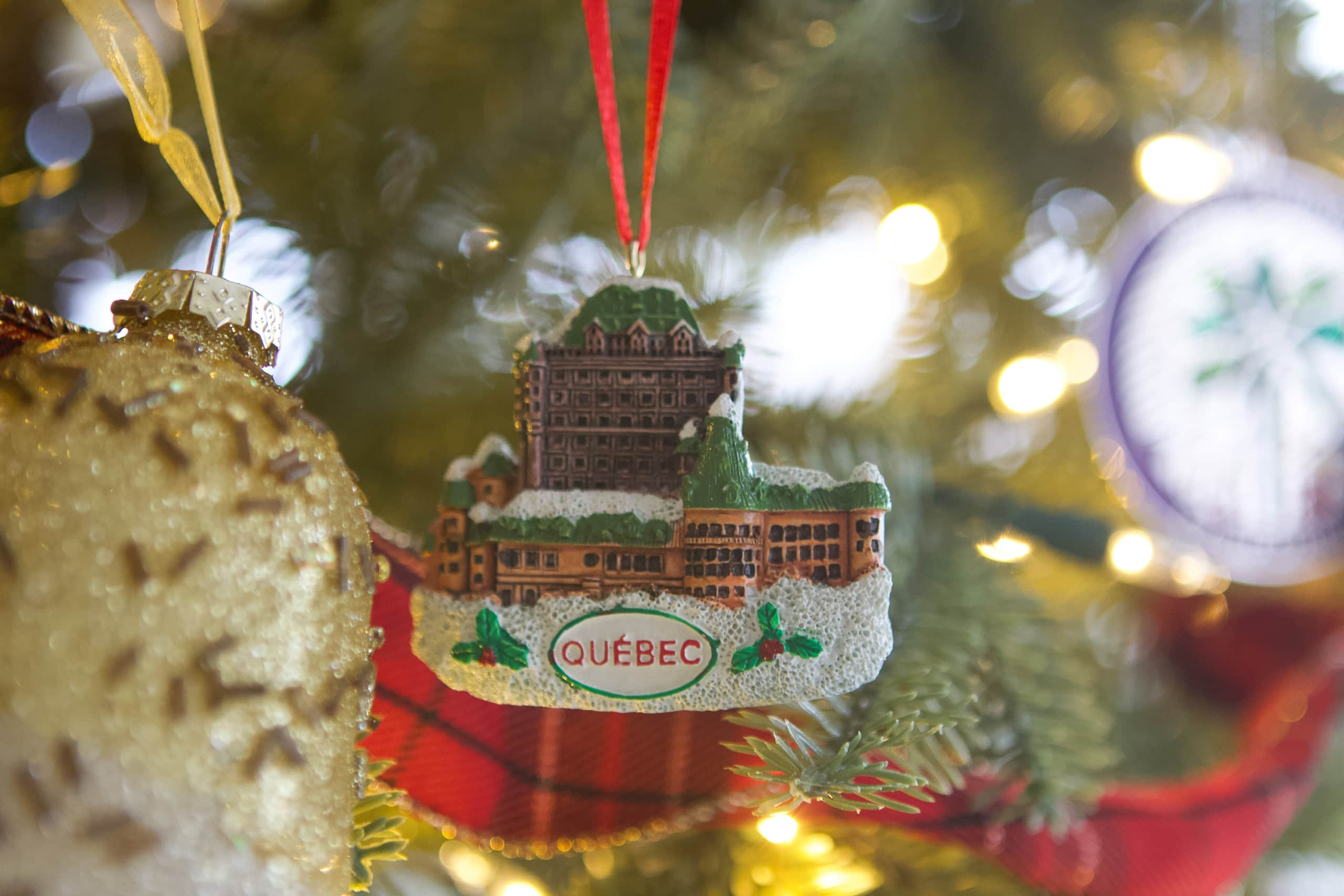 Christmas tree ornament from Quebec City