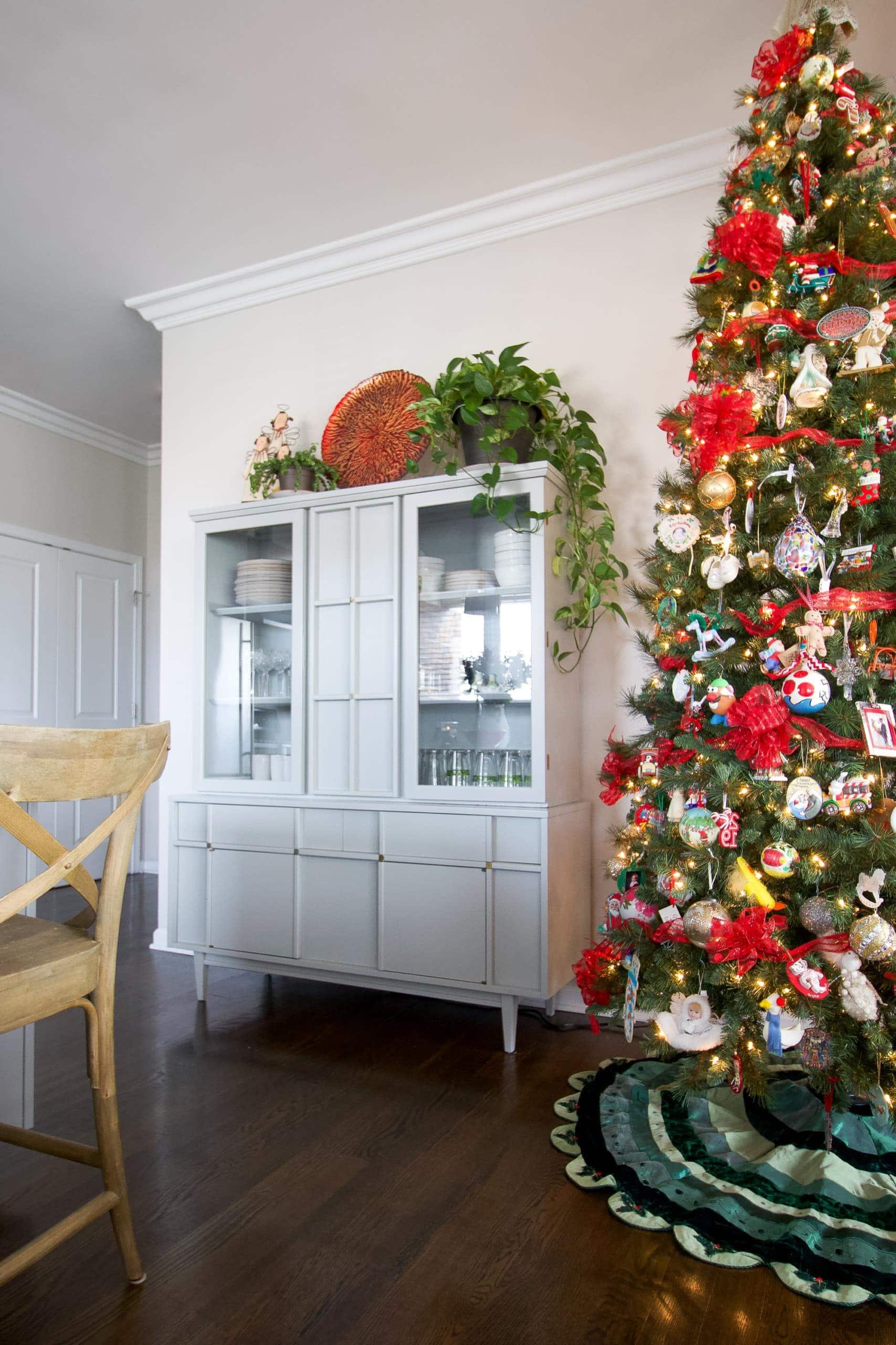 My mom's traditional Christmas home