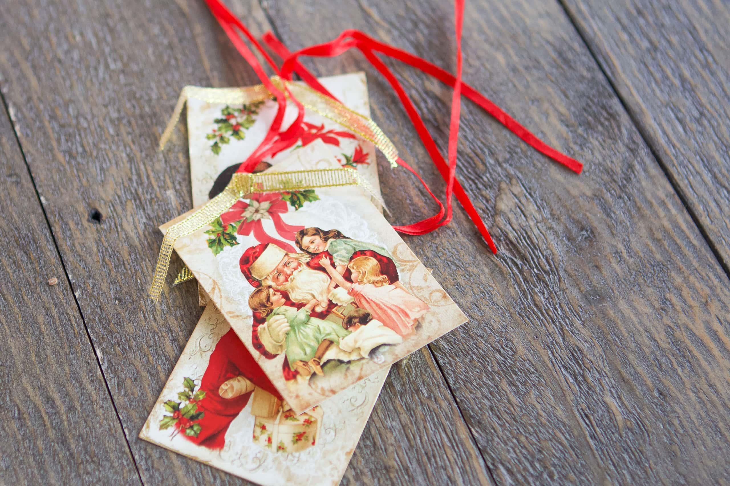 Use vintage gift tags