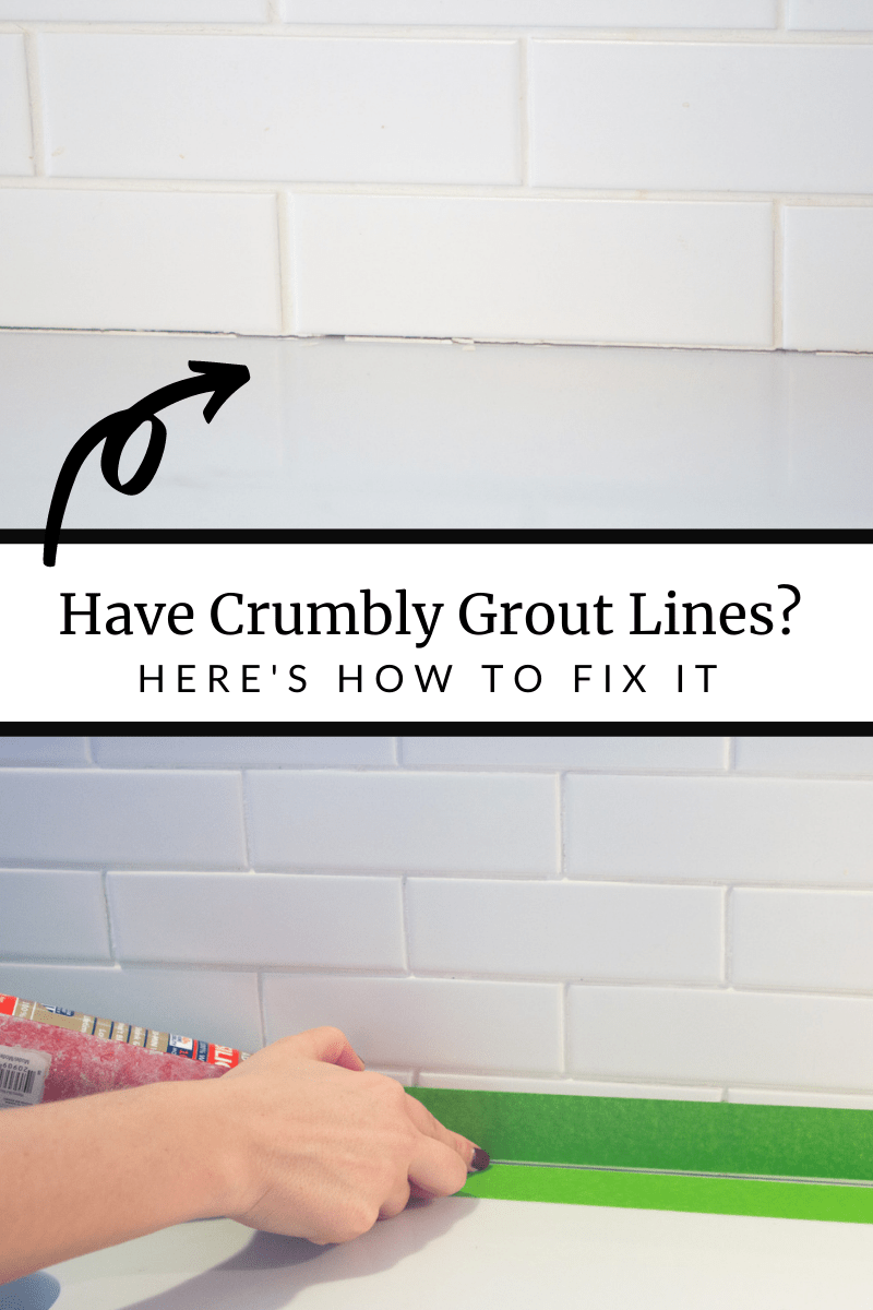 How to fix crumbling grout lines