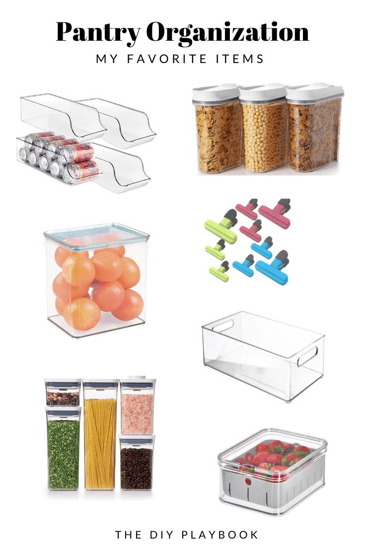 My favorite items for creating an organized pantry