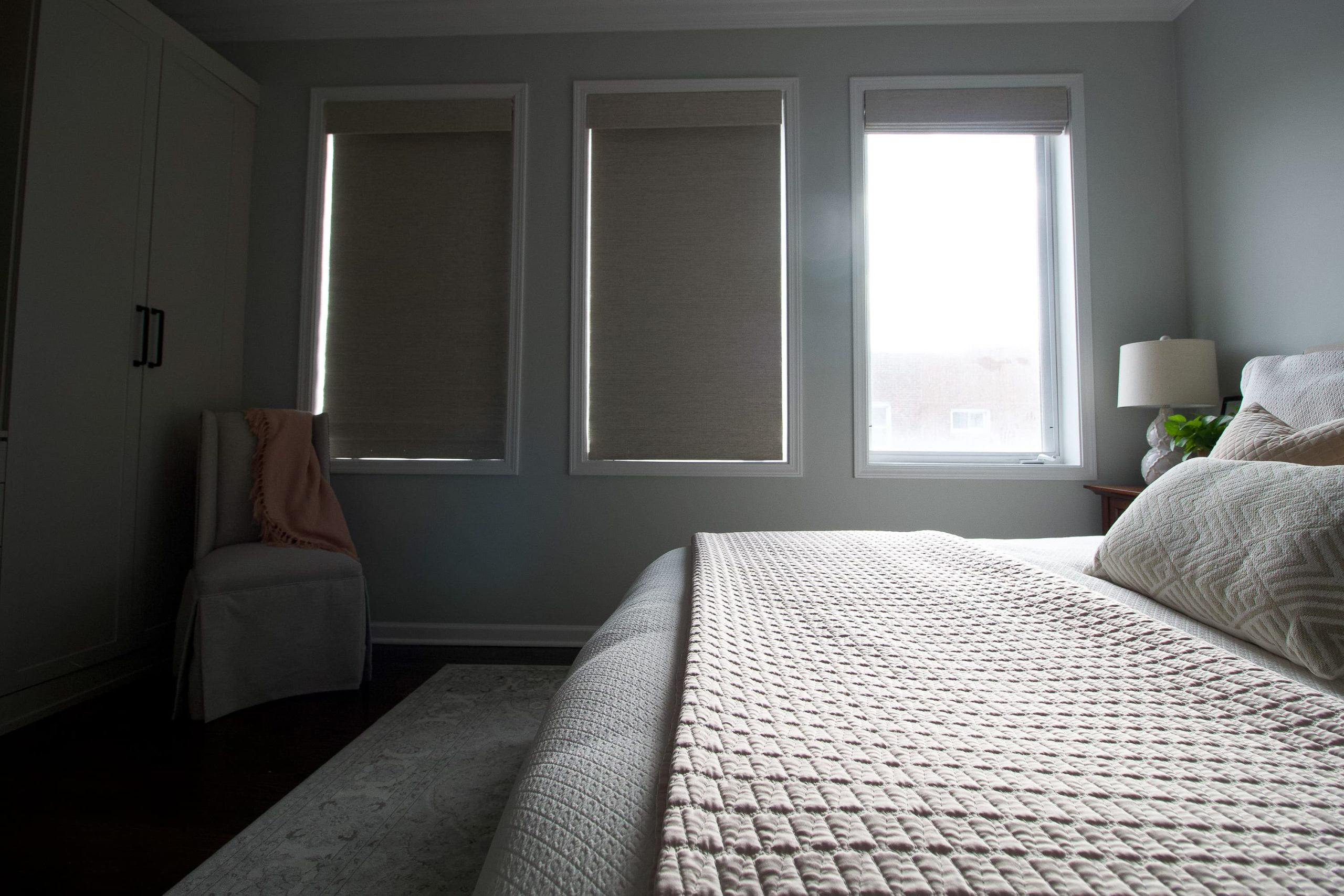 Blocking out the light with window shades