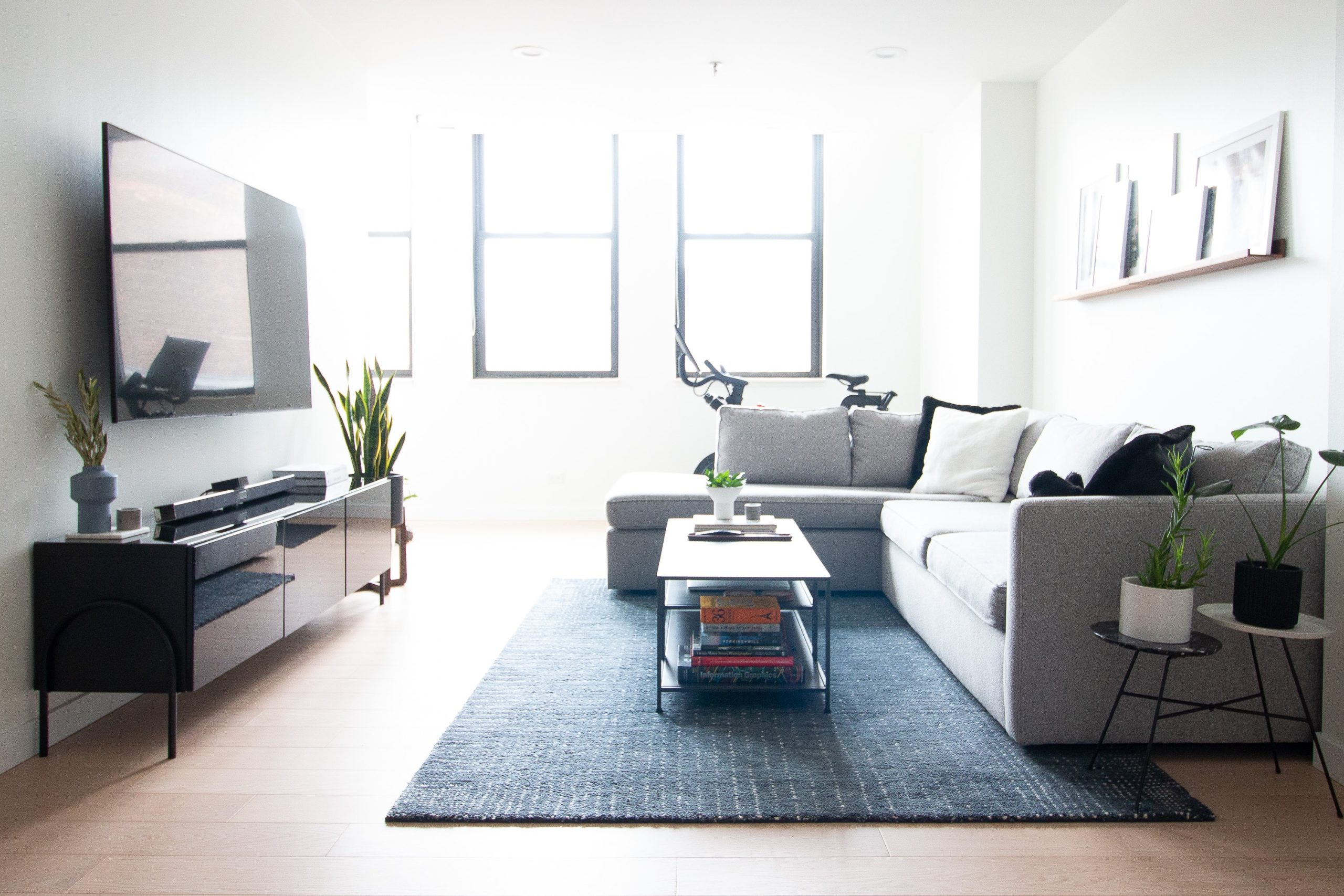 Modern living room in the city