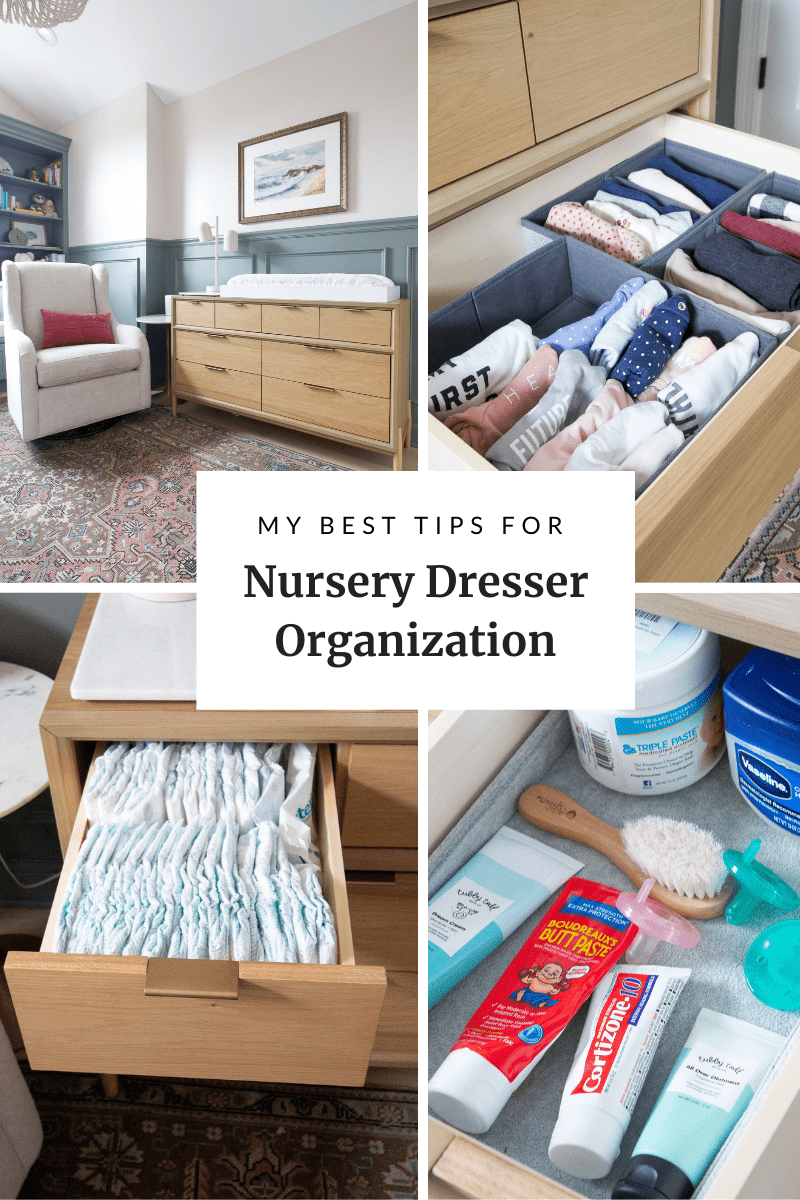 My best nursery dresser organization tips