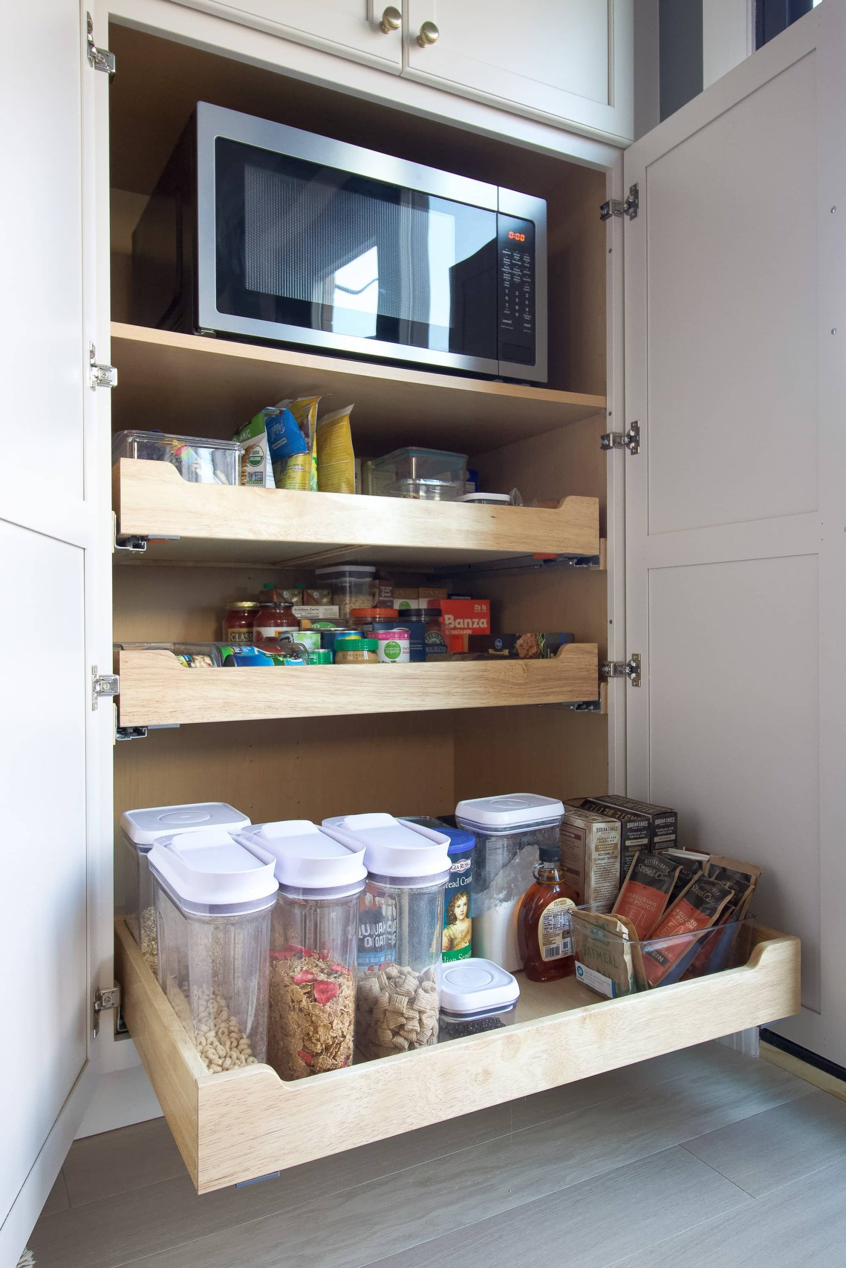 Our new kitchen pantry drawers