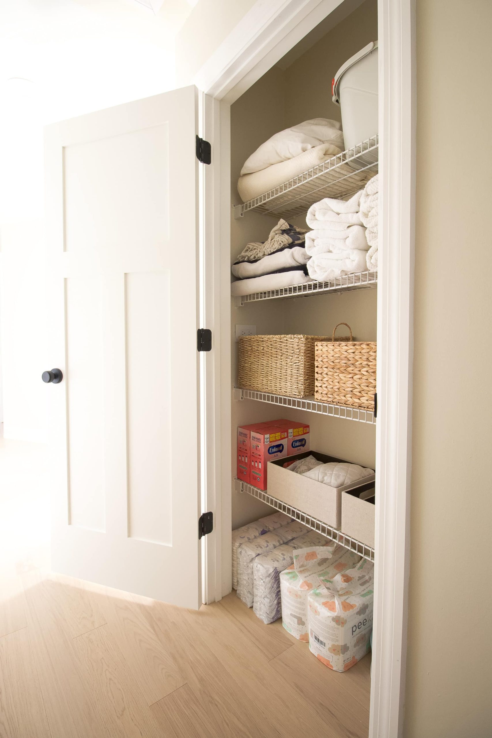 Linen closet after