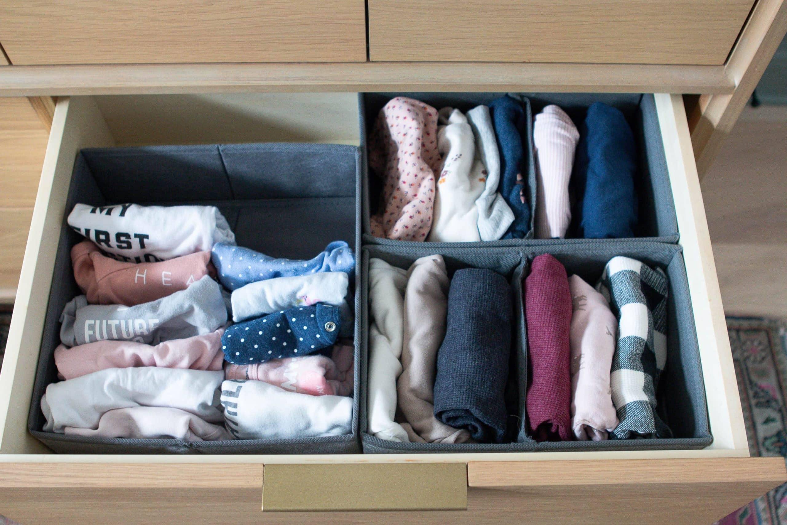 How to tackle nursery dresser organization