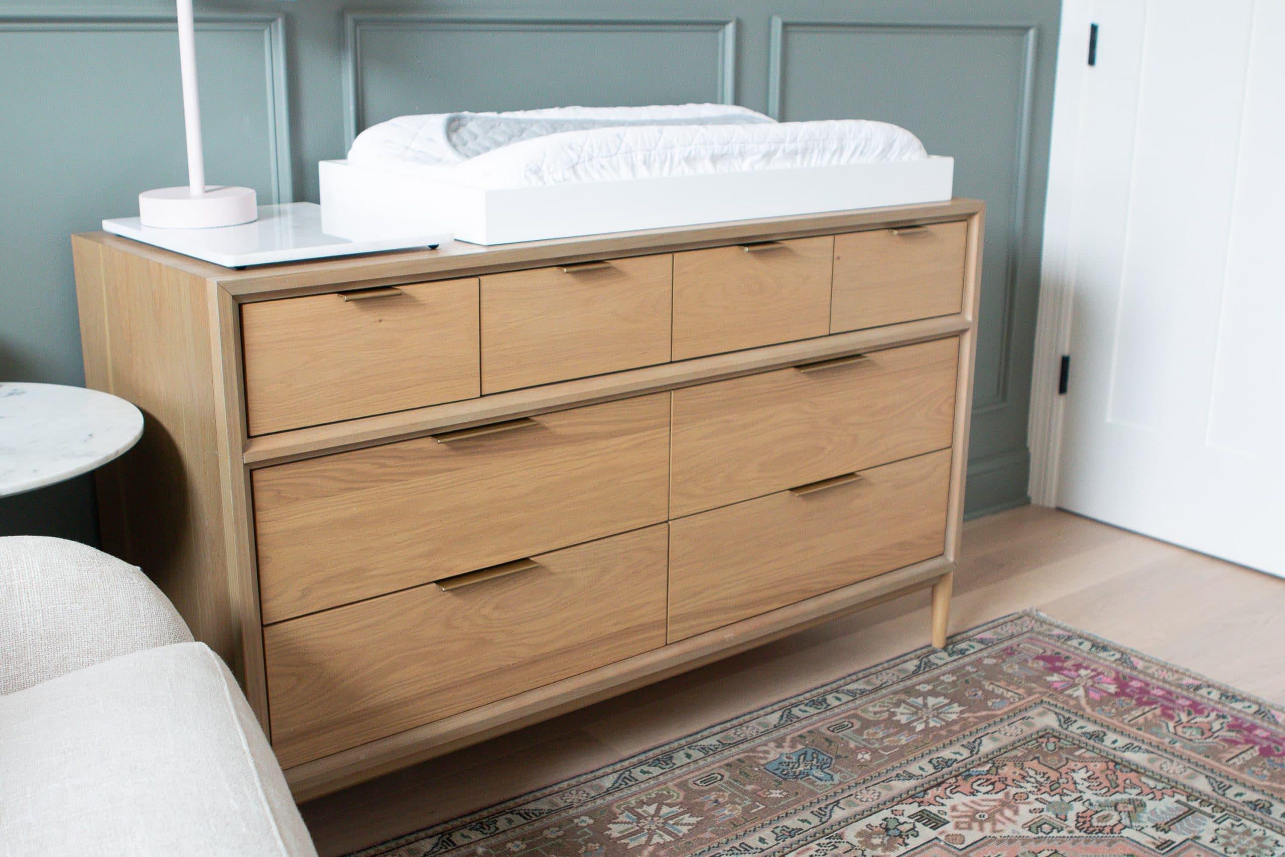 Rory's nursery dresser organization