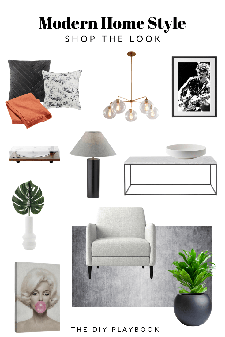 Modern home style home tour