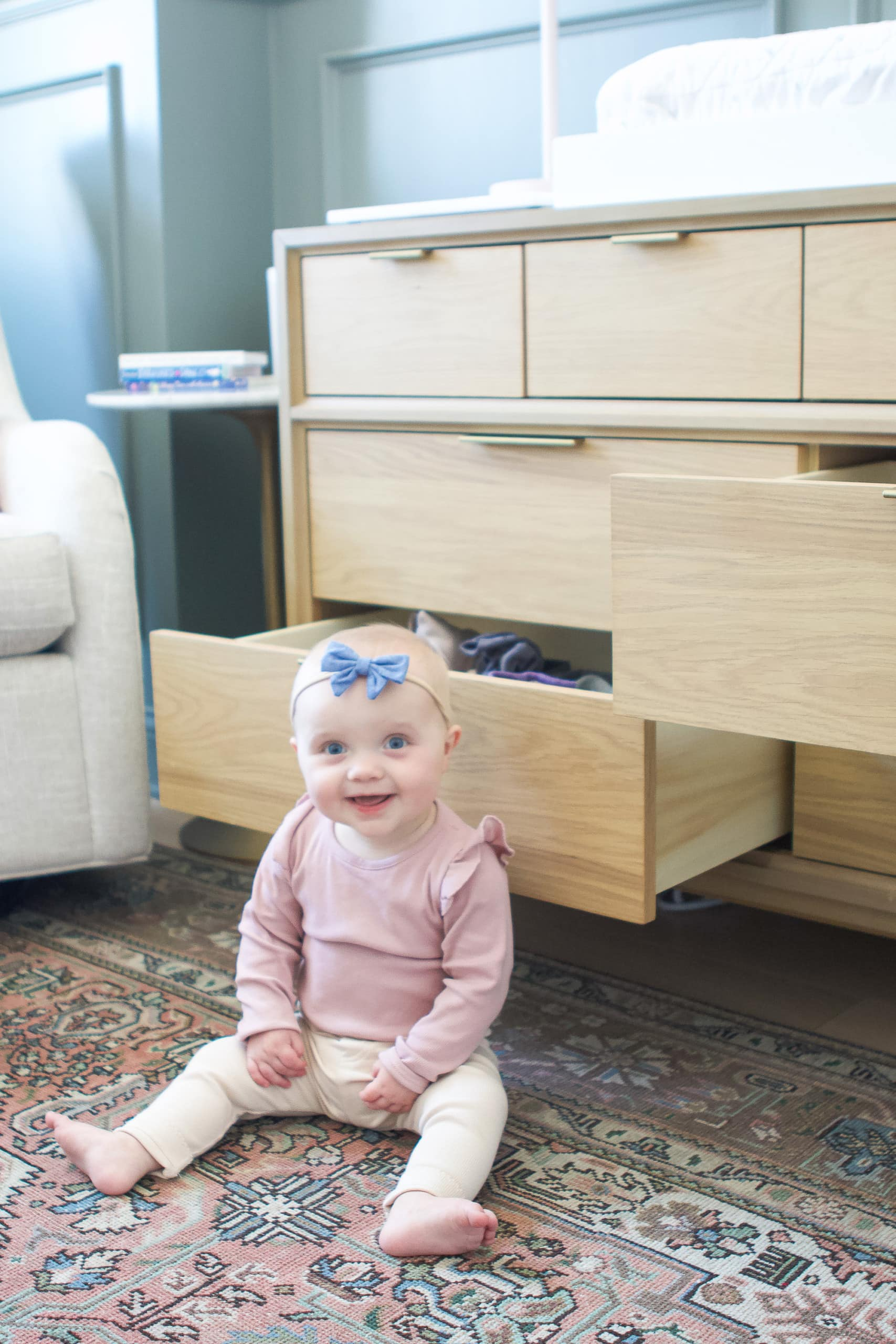 How we anchored our heavy furniture to keep our baby girl safe