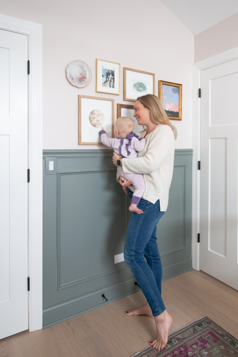 Creating a nursery gallery wall