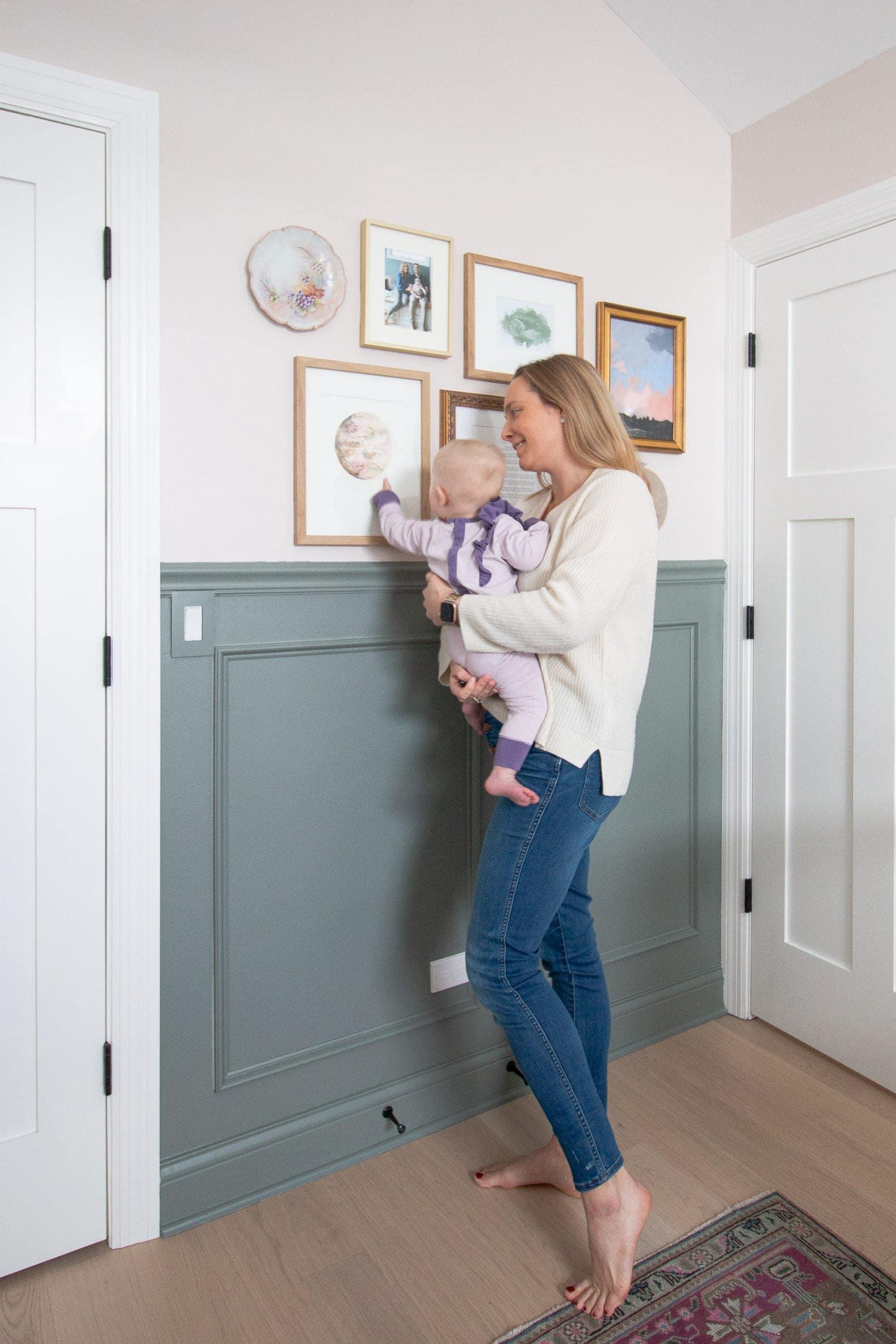 Creating a nursery gallery wall