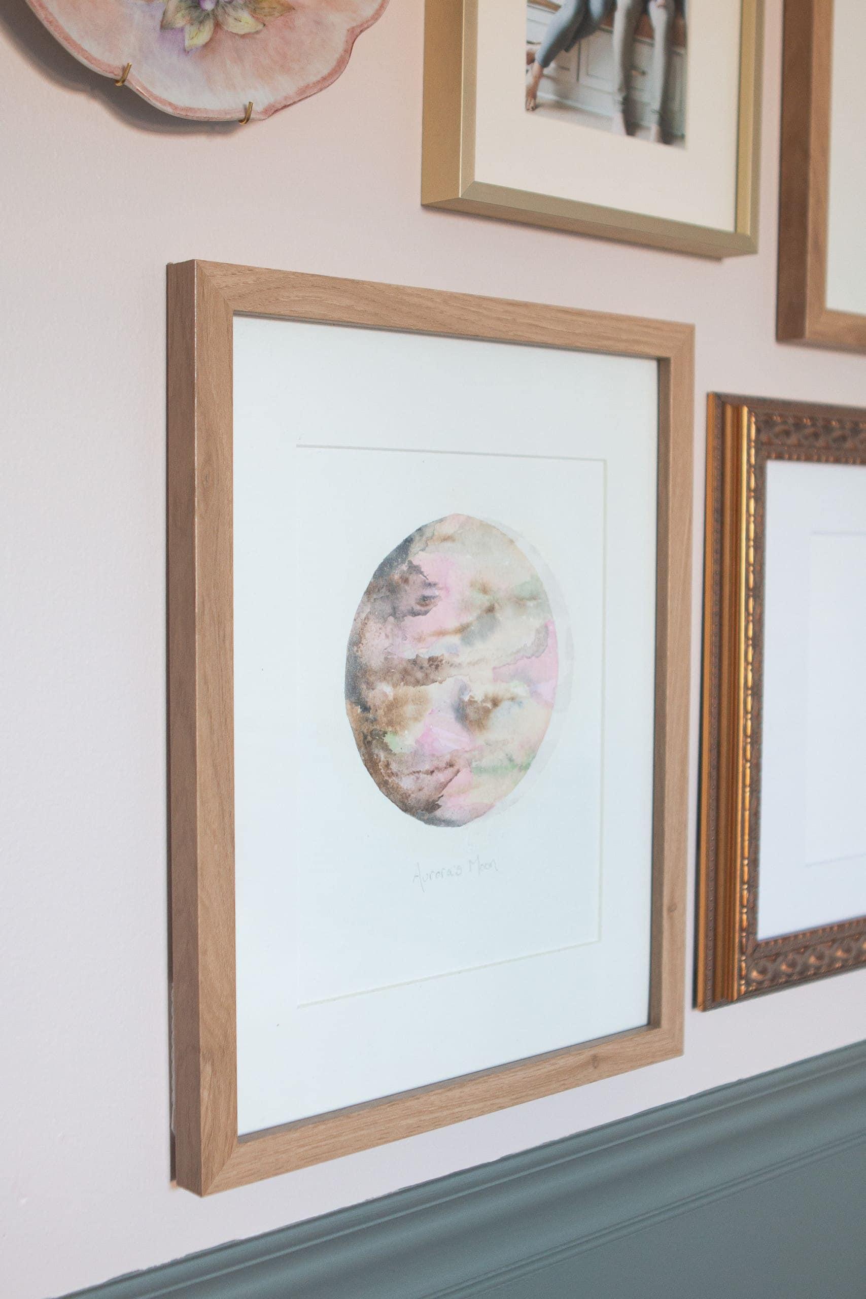 Handmade moon art
