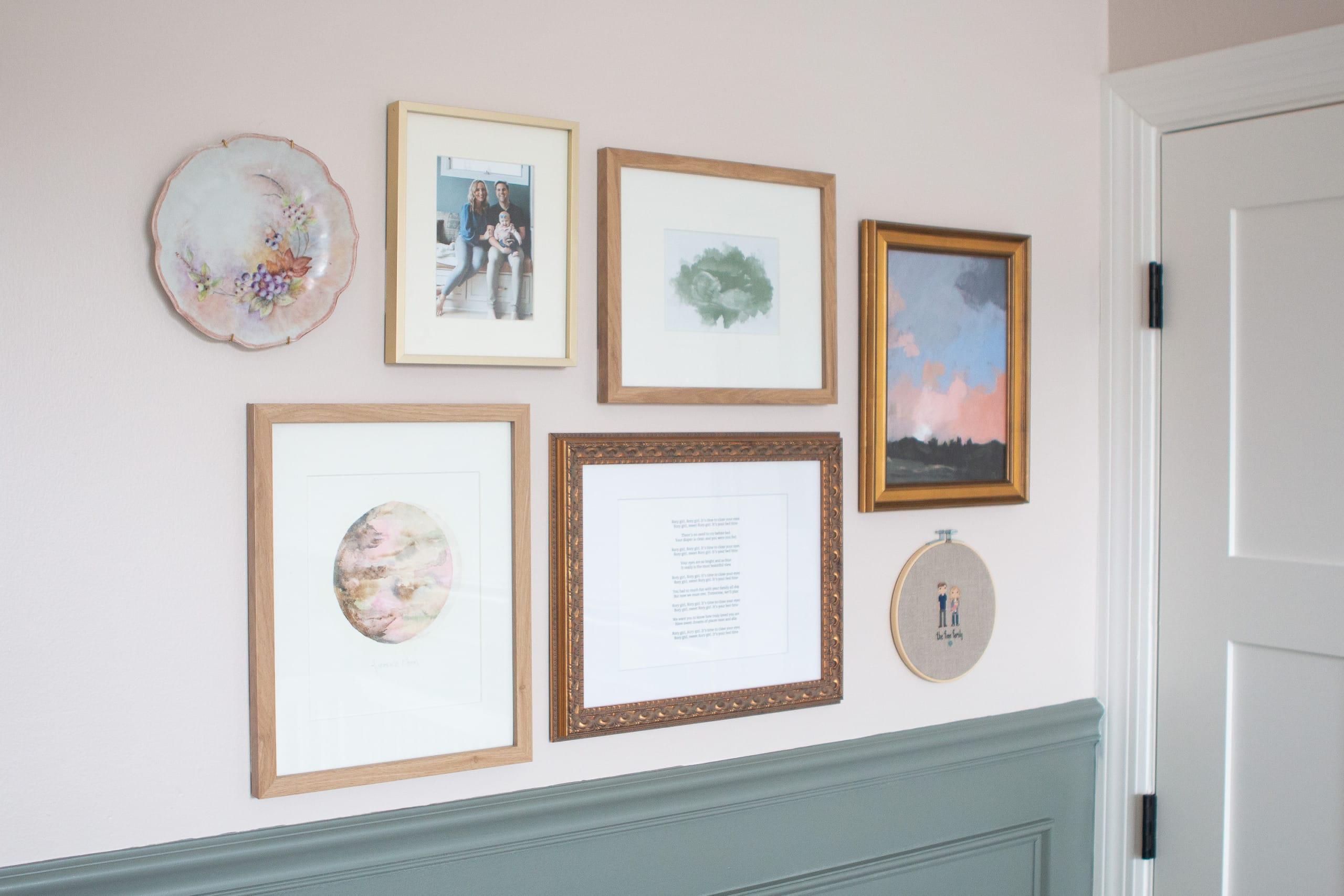 rory's nursery gallery wall