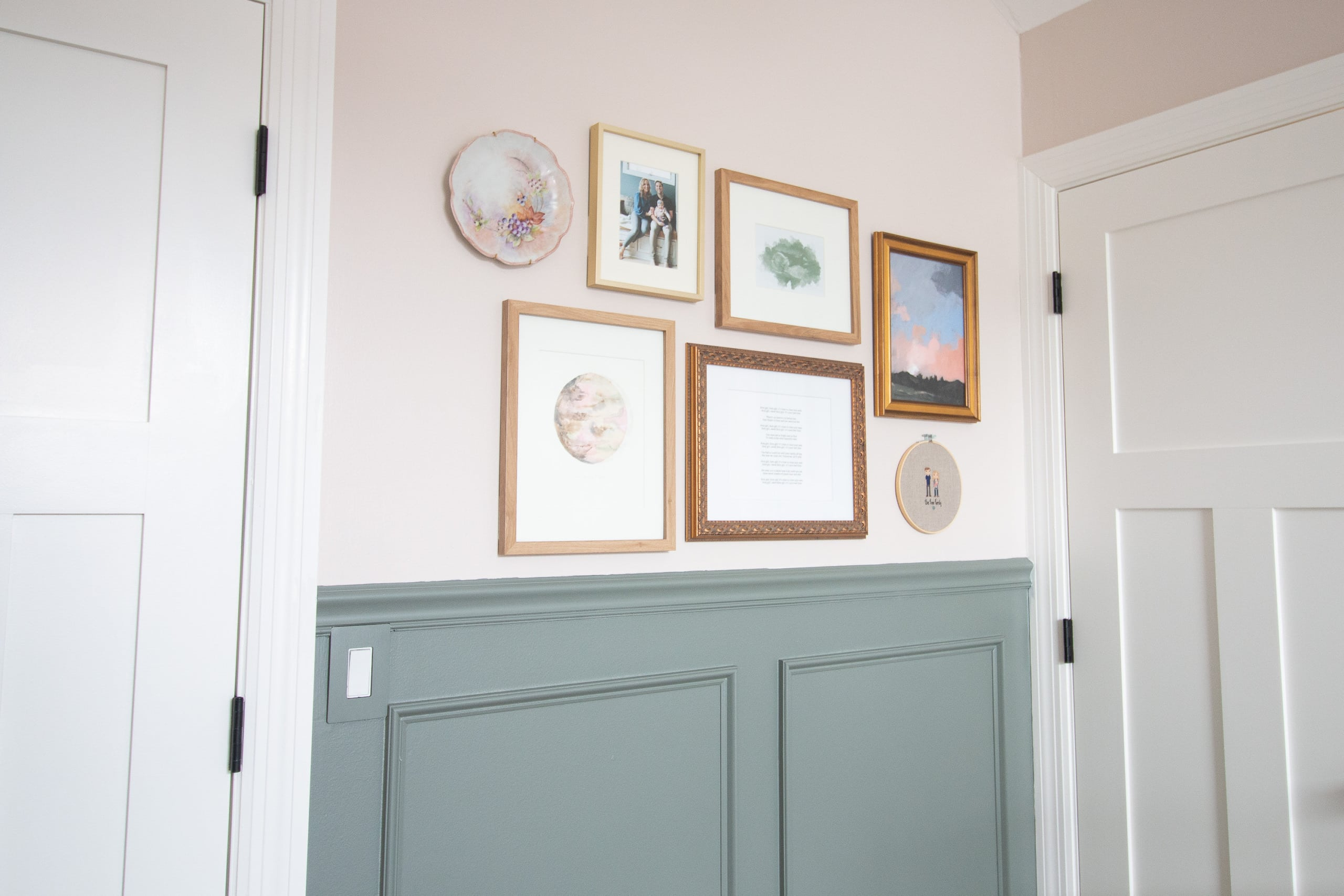 Staring at the nursery gallery wall