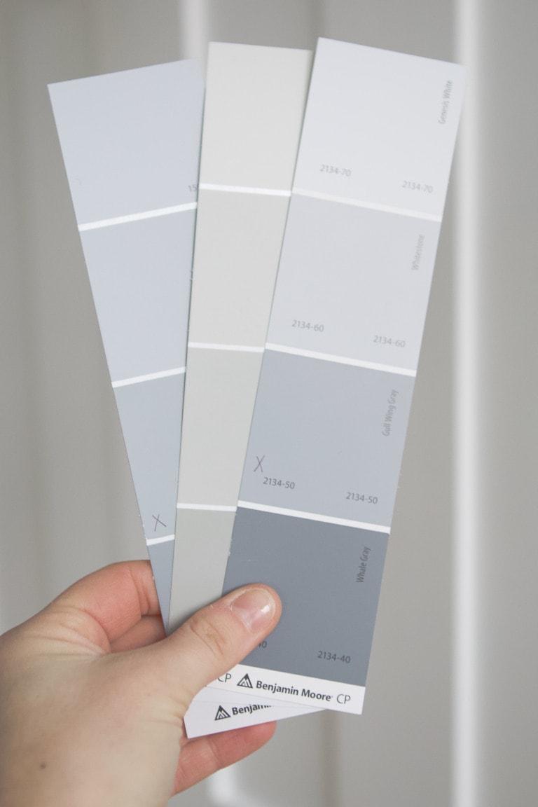 Choosing paint samples
