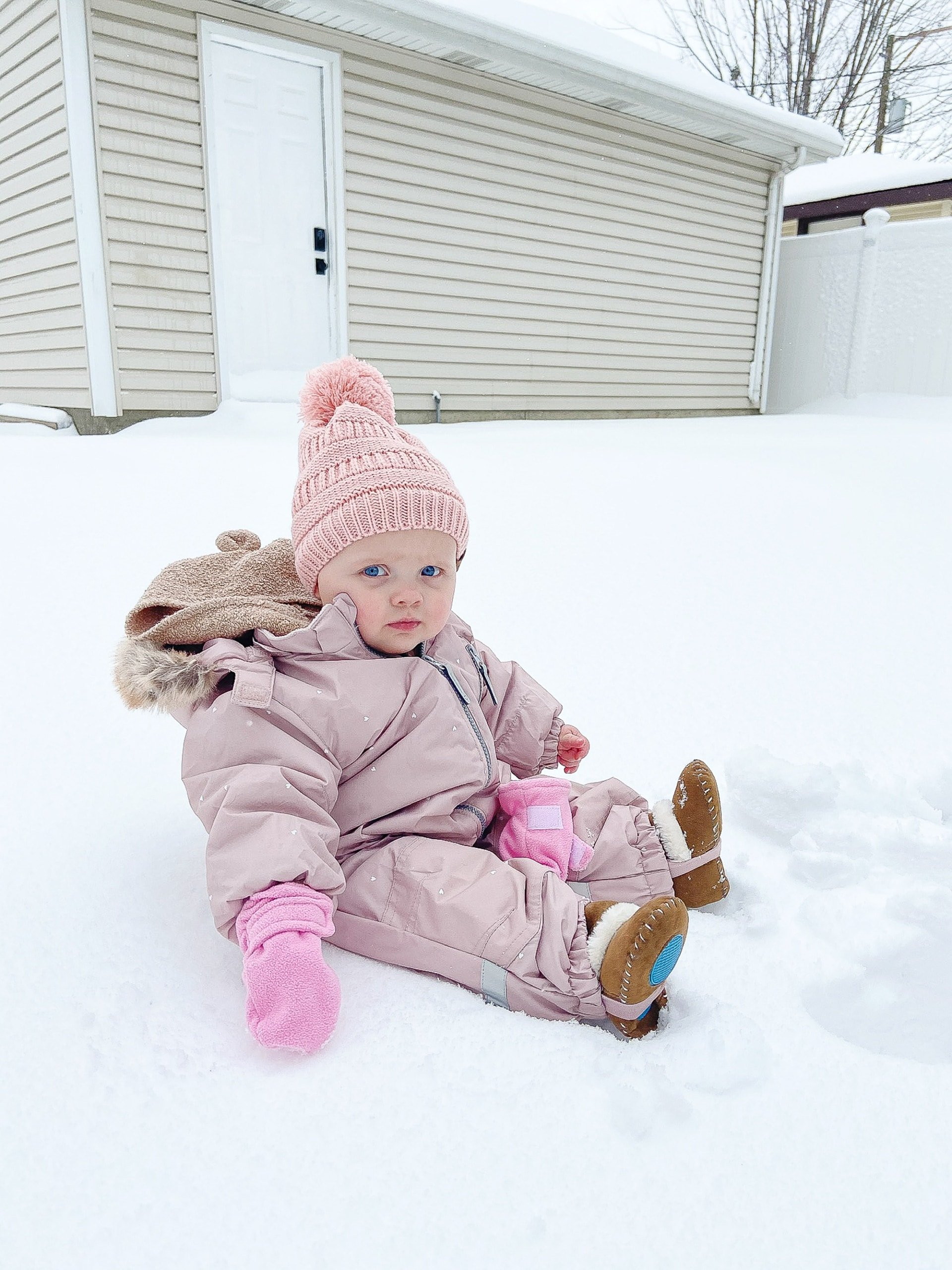 Rory out in the snow
