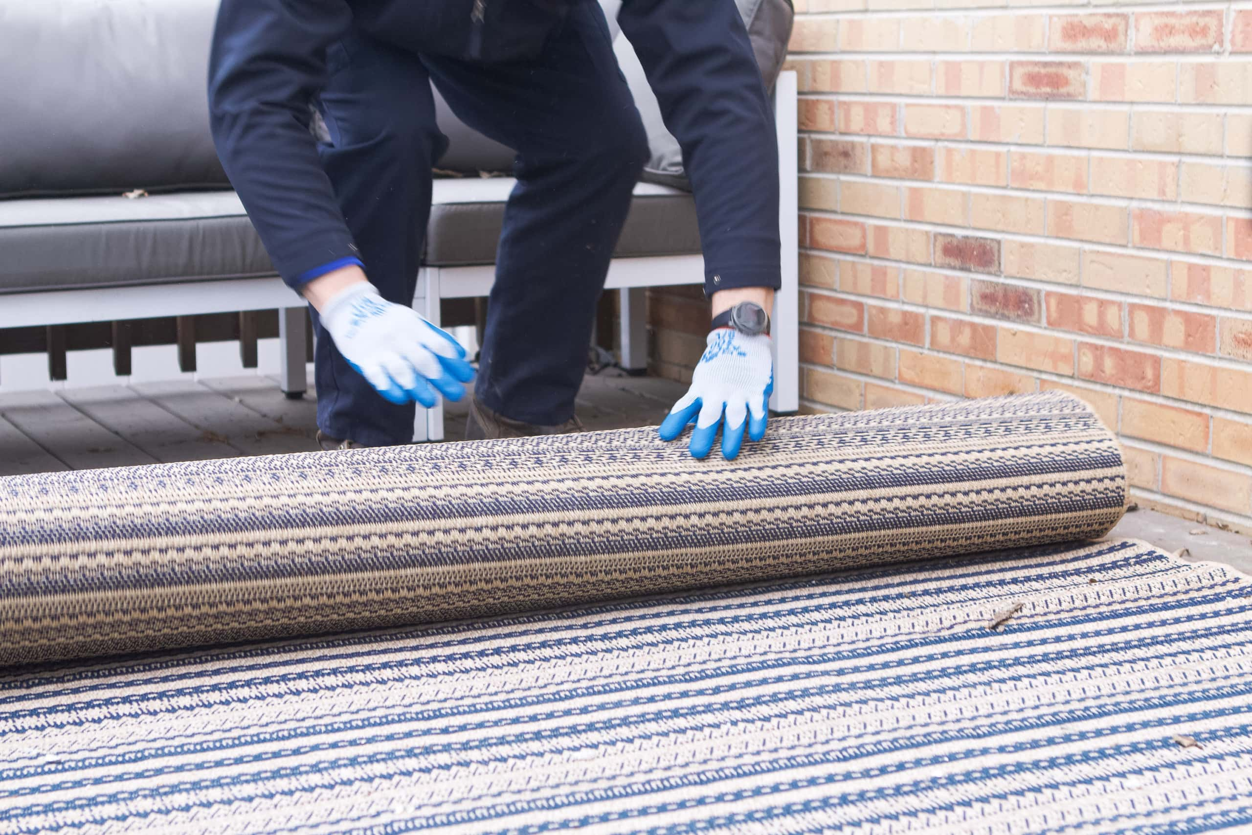 Removing our old rug