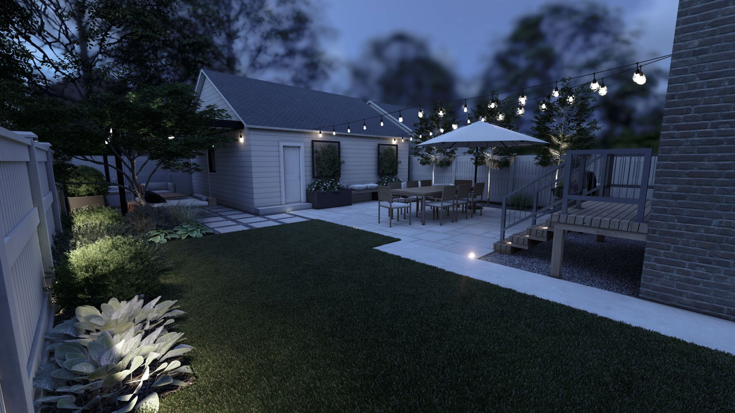 Renderings from yardzen for our backyard