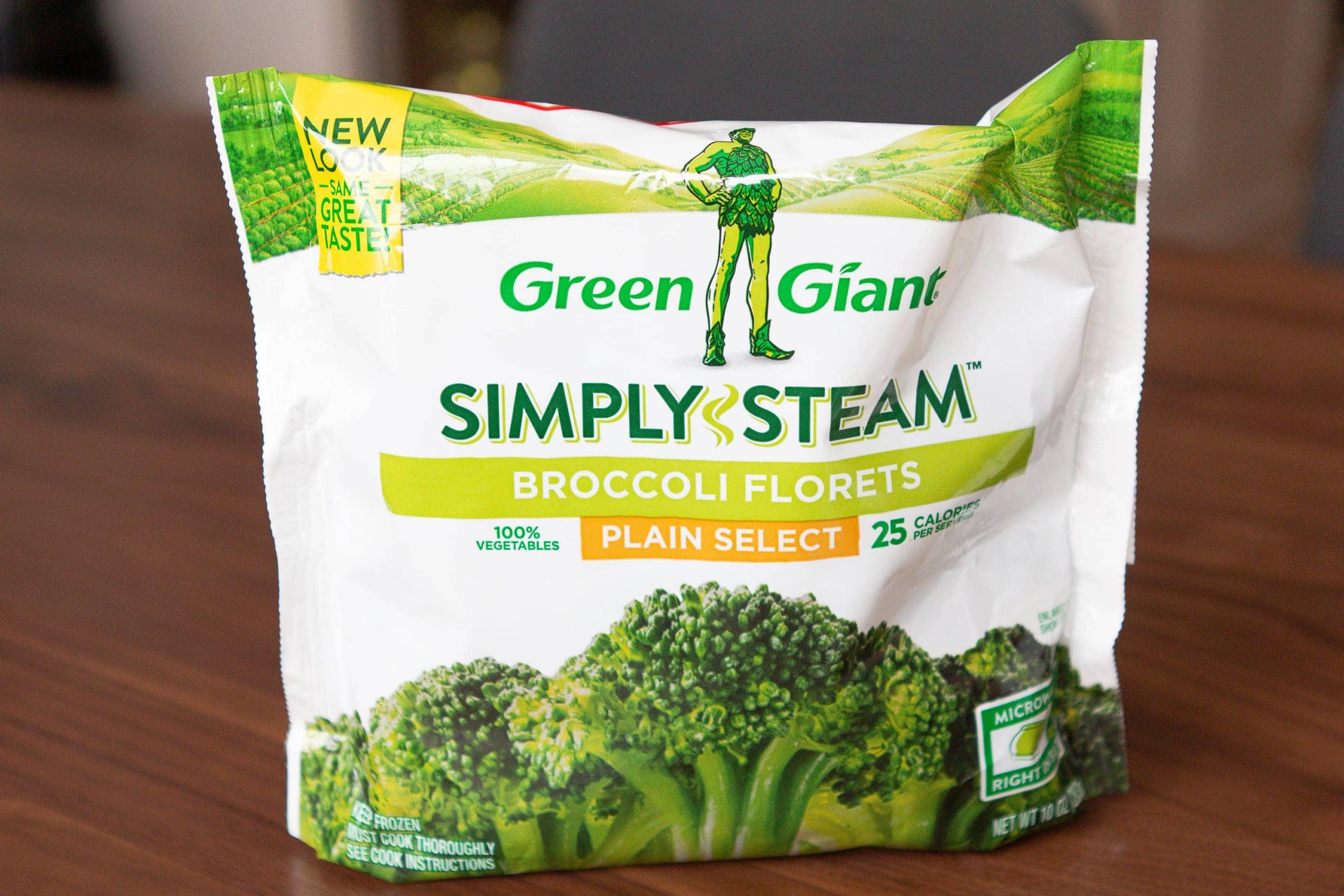 Steamed veggies in a bag