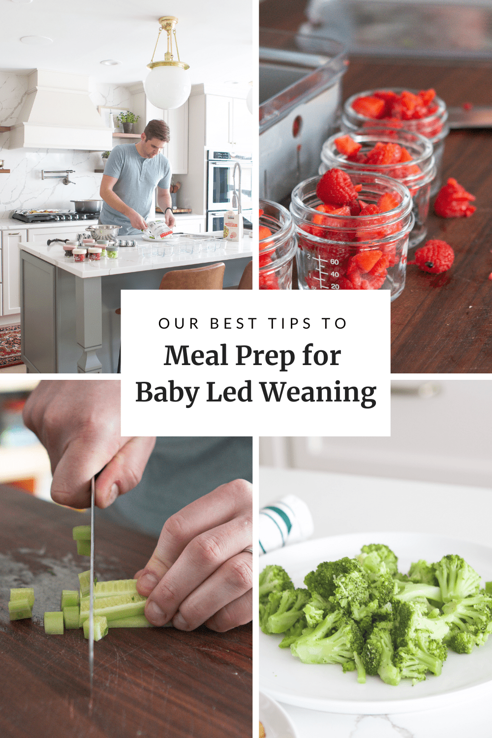 how to meal prep for baby led weaning