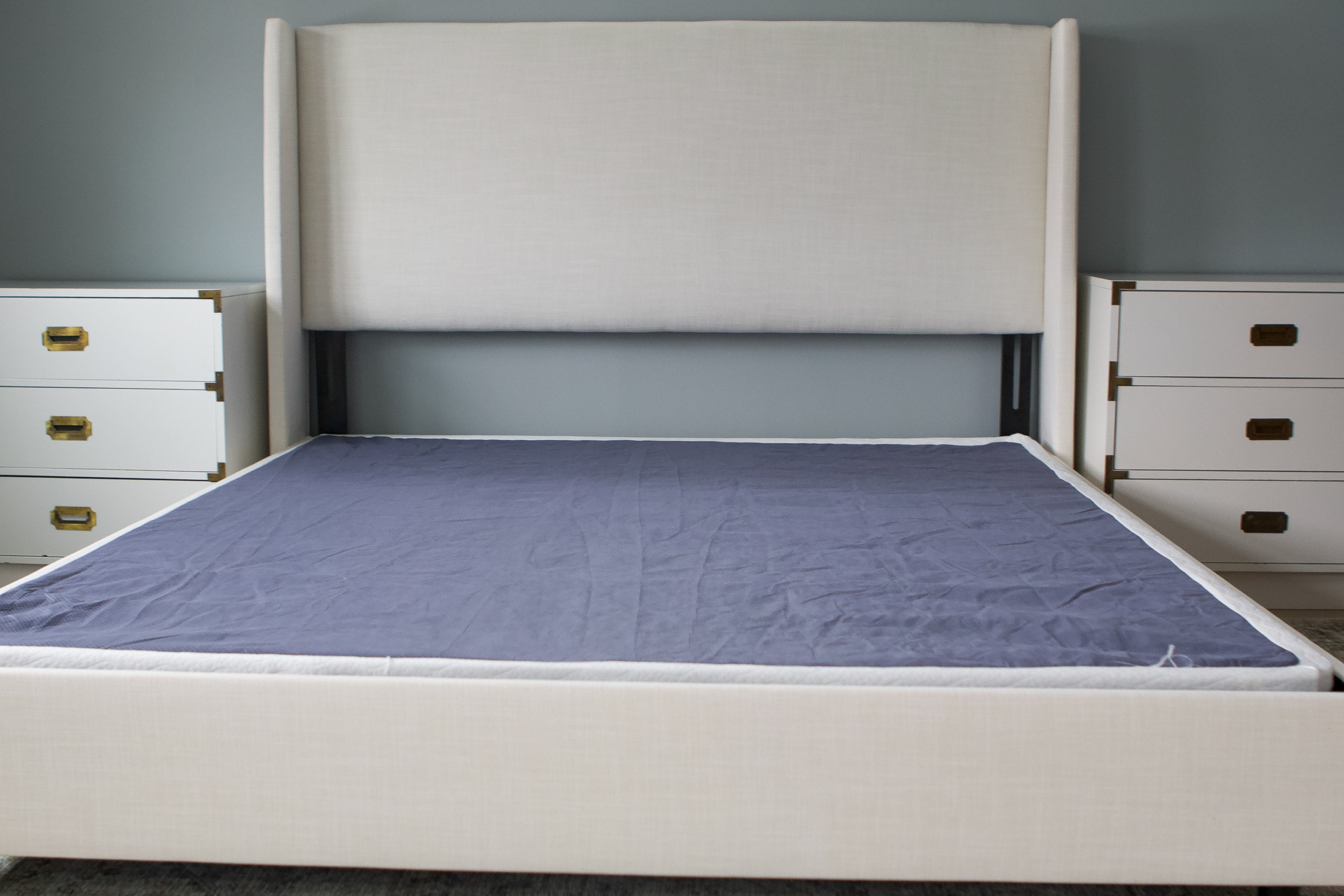 Our new platform bed and mattress frame