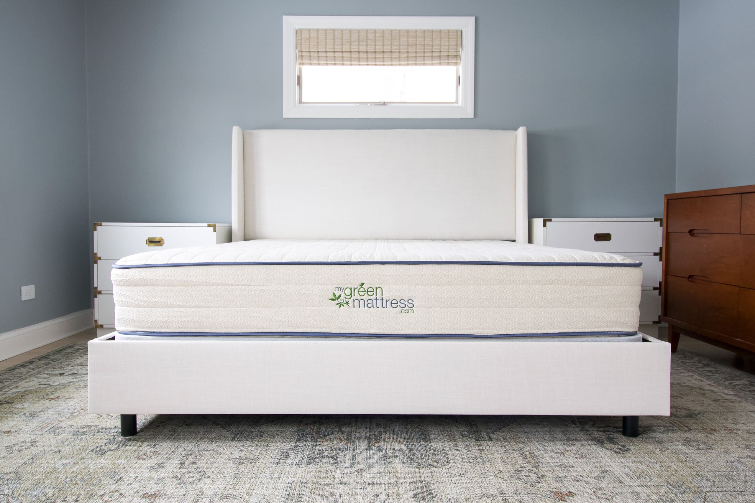Adding our new king-sized mattress to our master bedroom