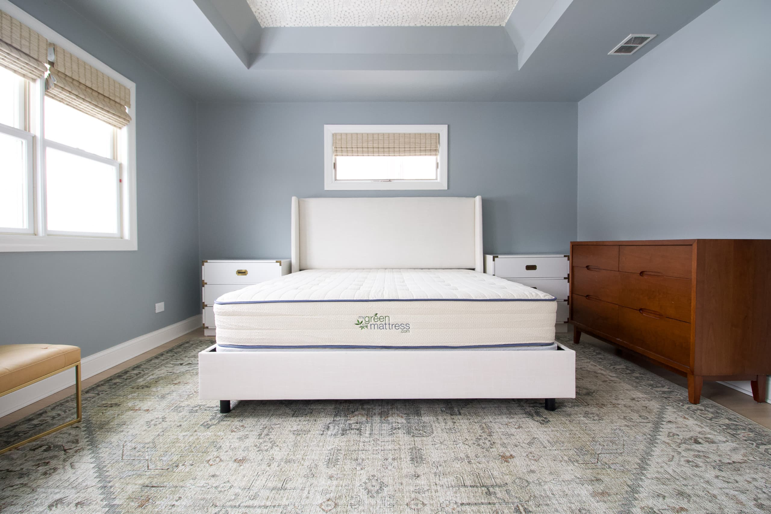 Our new king-sized bed