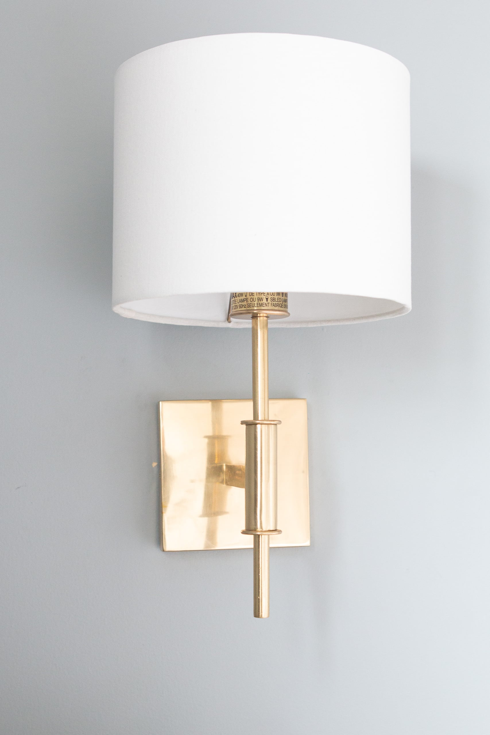 Brass sconces from Pottery Barn