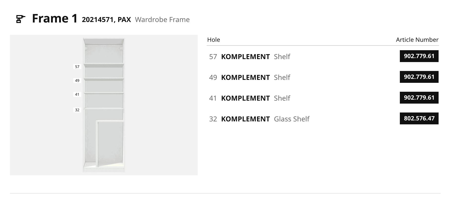 frame 1 ikea pax
