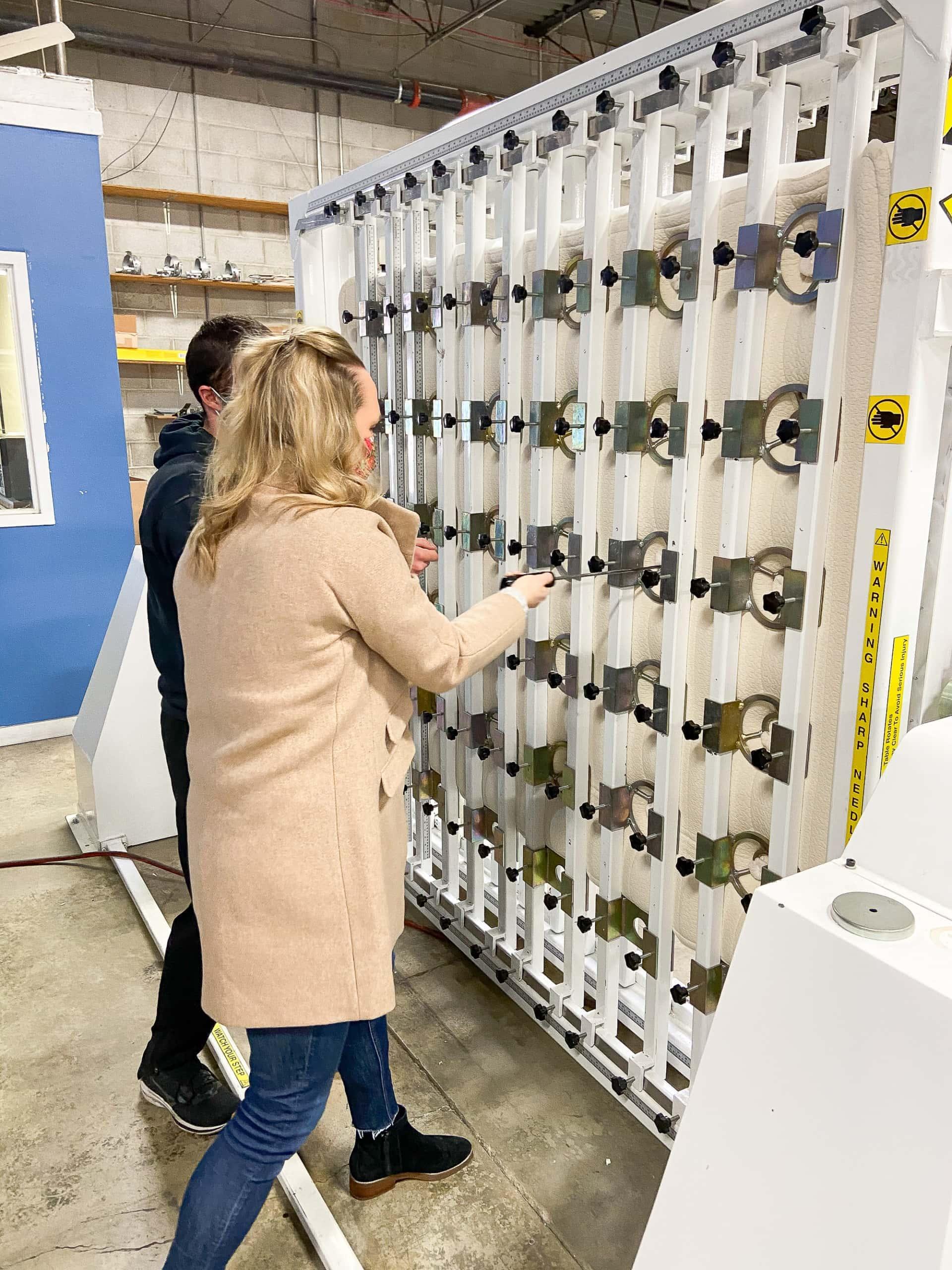 Touring my green mattress factory