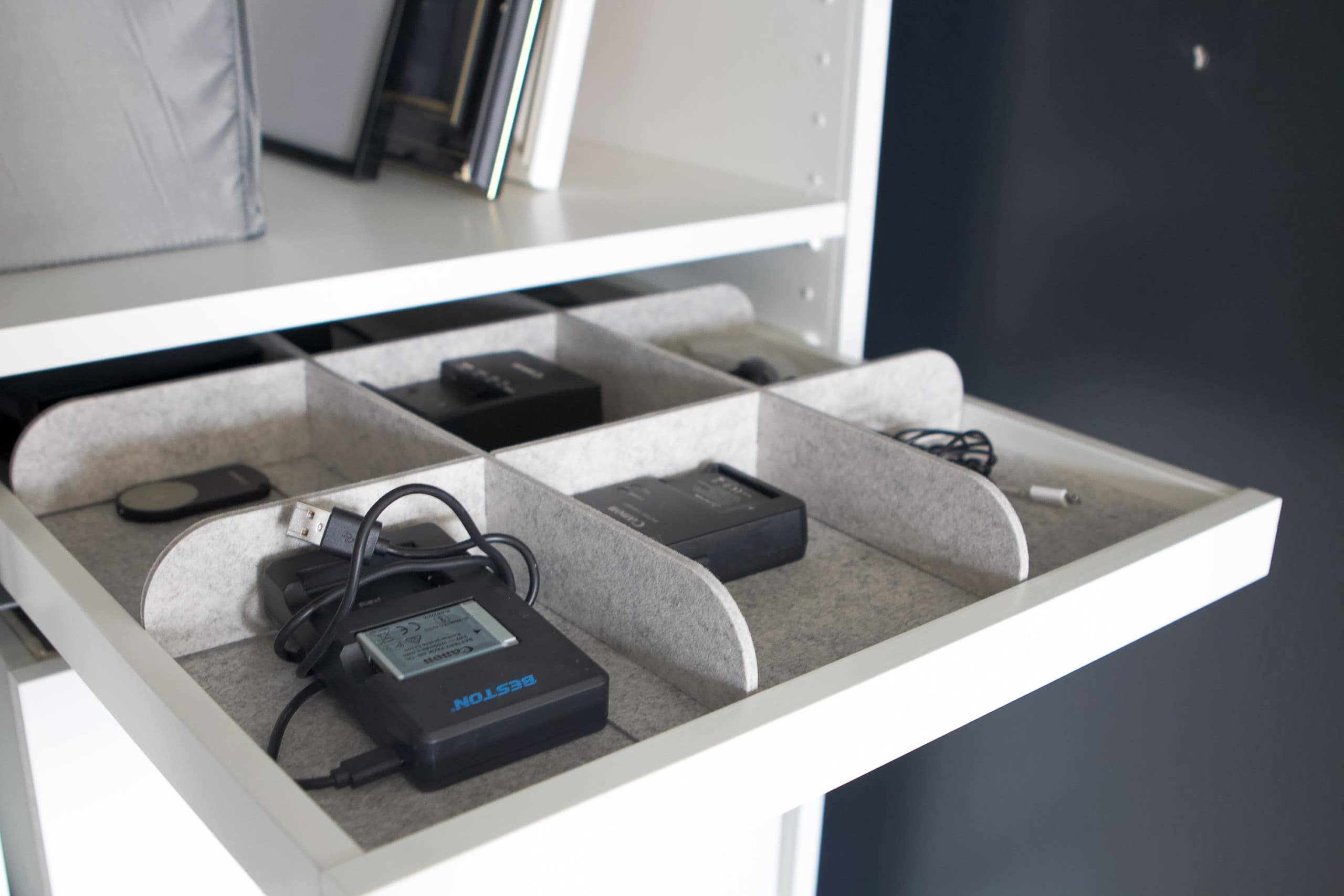 Adding a pull-out tray to my organized closet