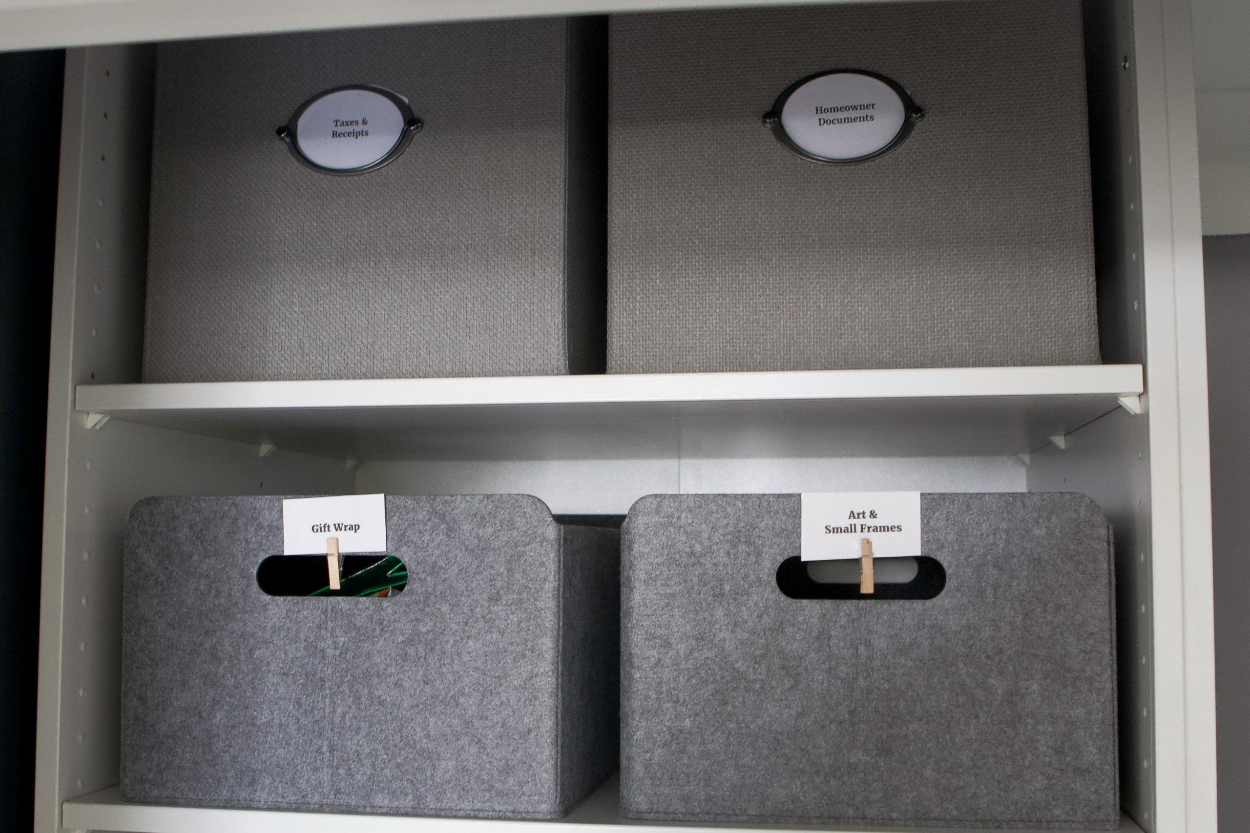 Adding storage file bins