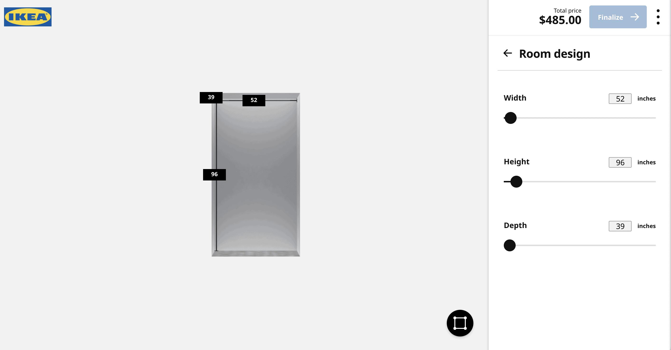 Our IKEA office closet