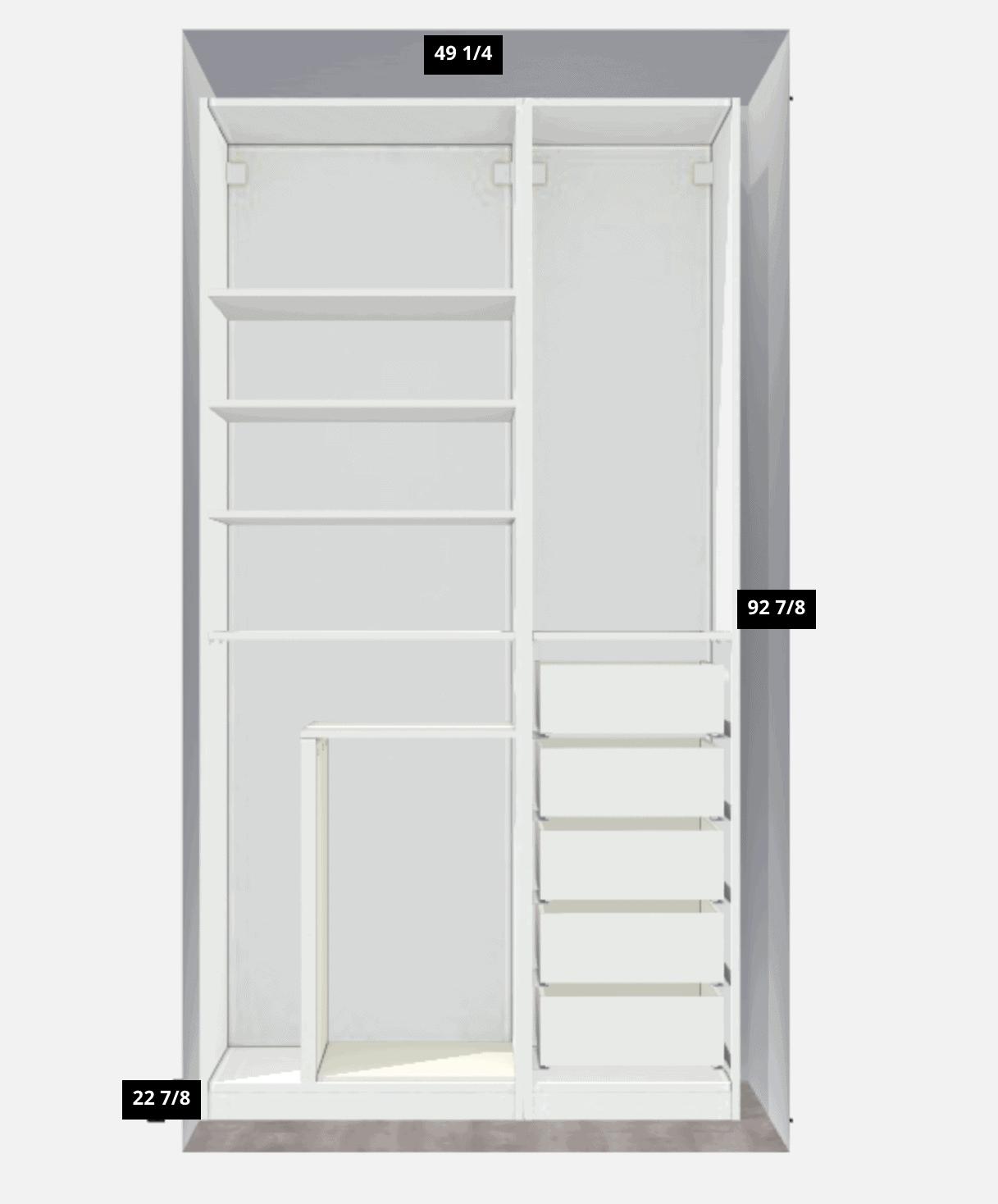 our ikea office closet plan