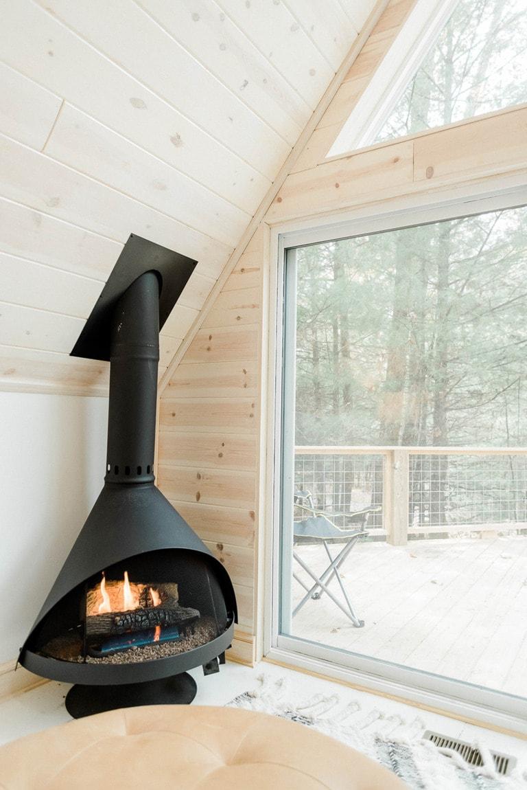 DIY cabin in the woods