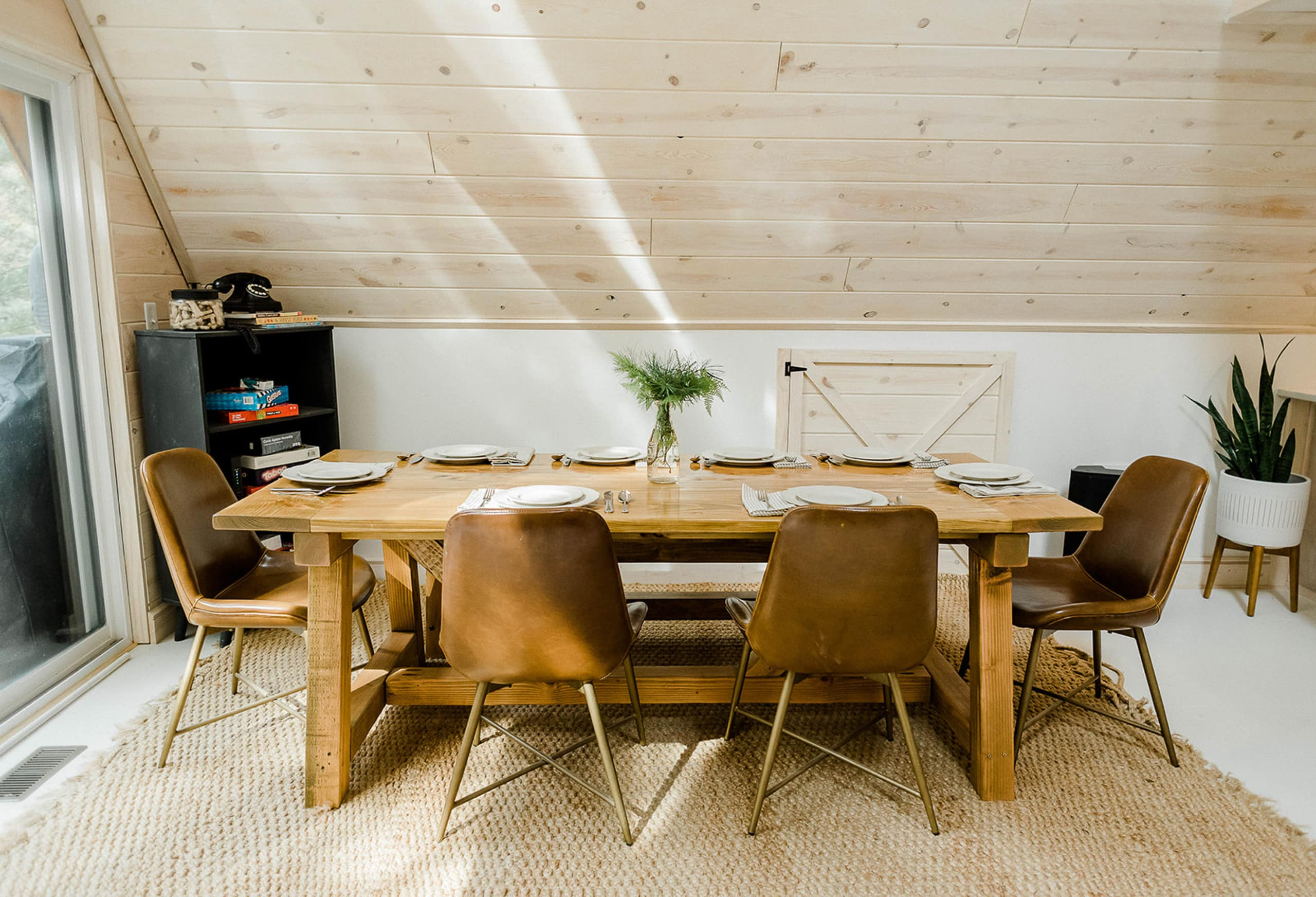 Large DIY outdoor dining room table