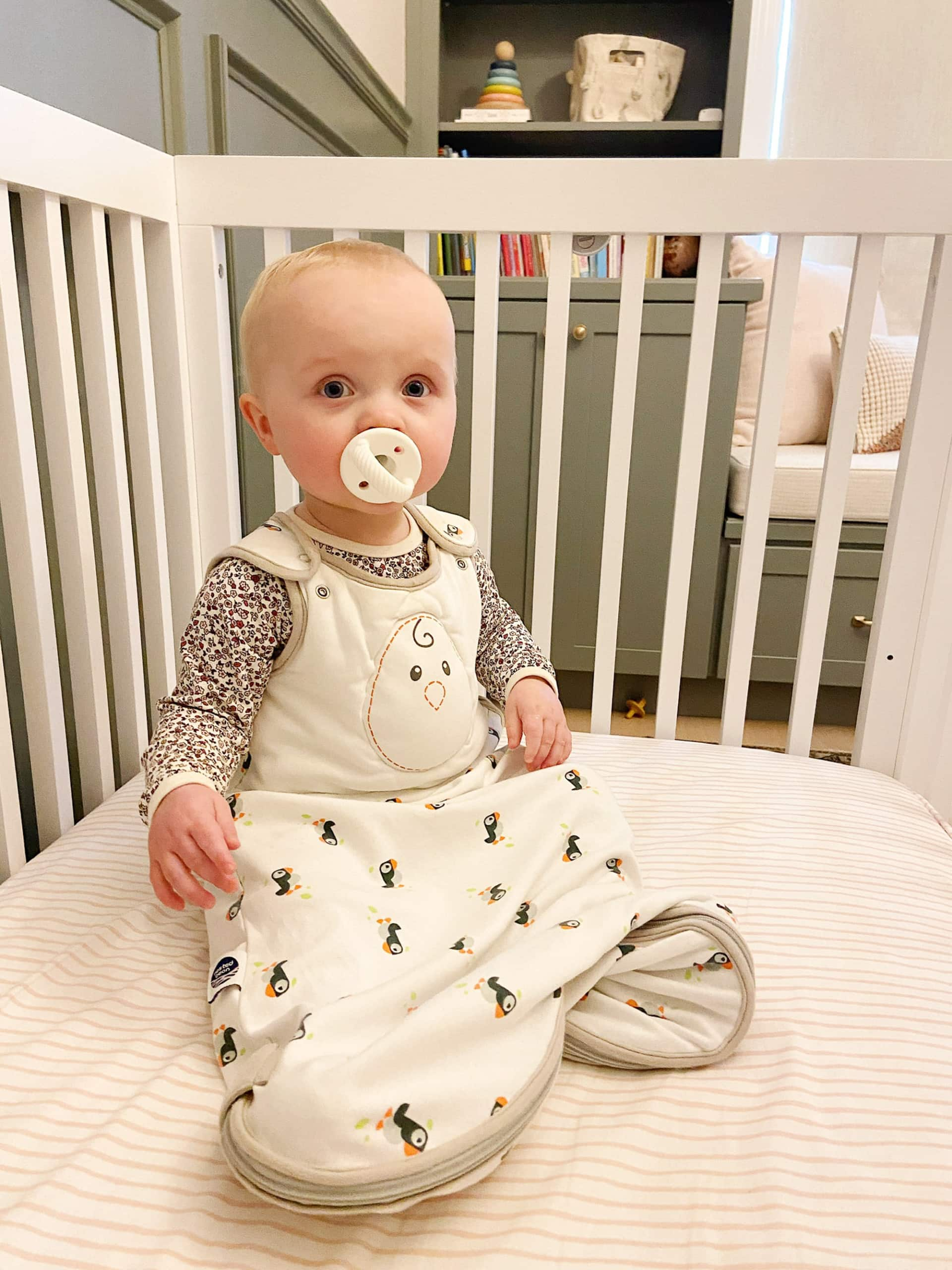 Rory in her crib at 11 months old