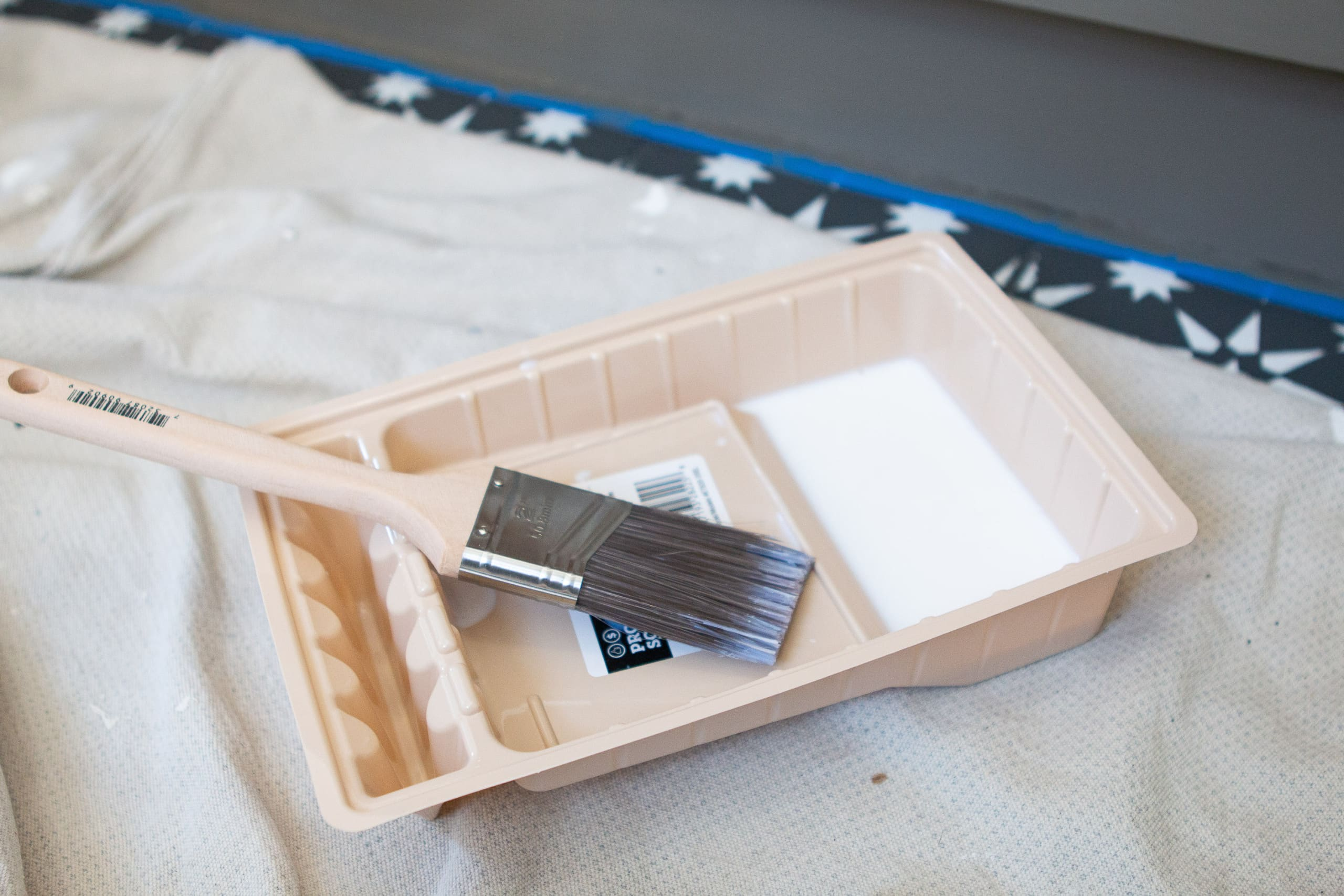 Supplies to paint your bathroom vanity
