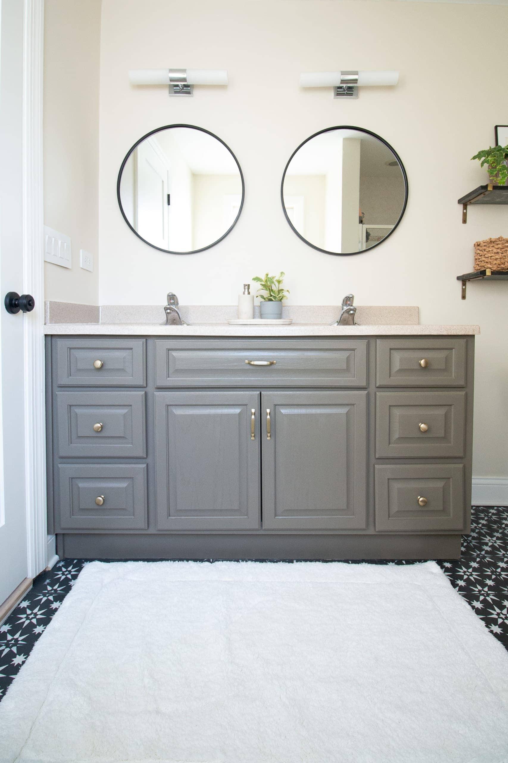 Bathroom vanity after