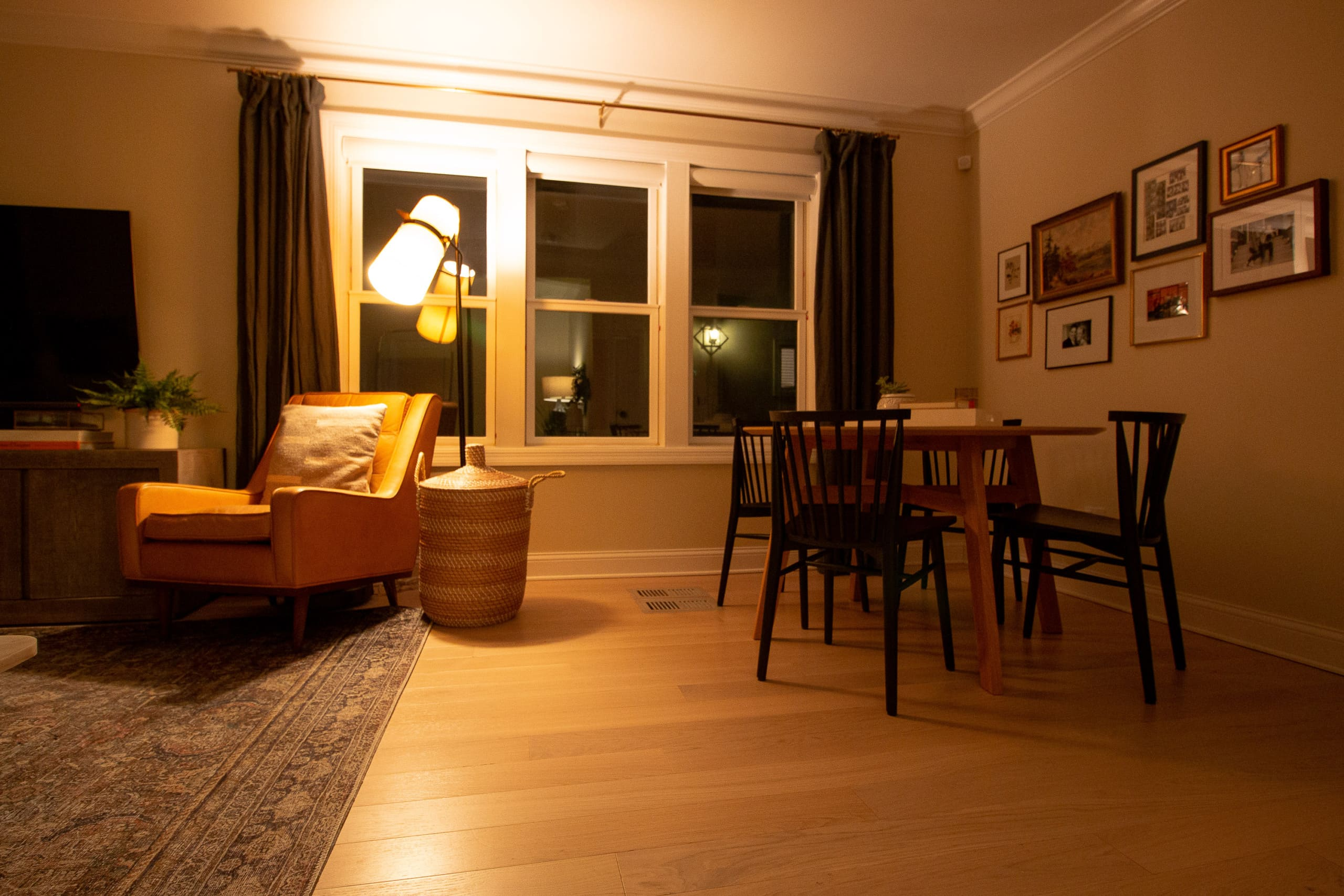 Our living room at night