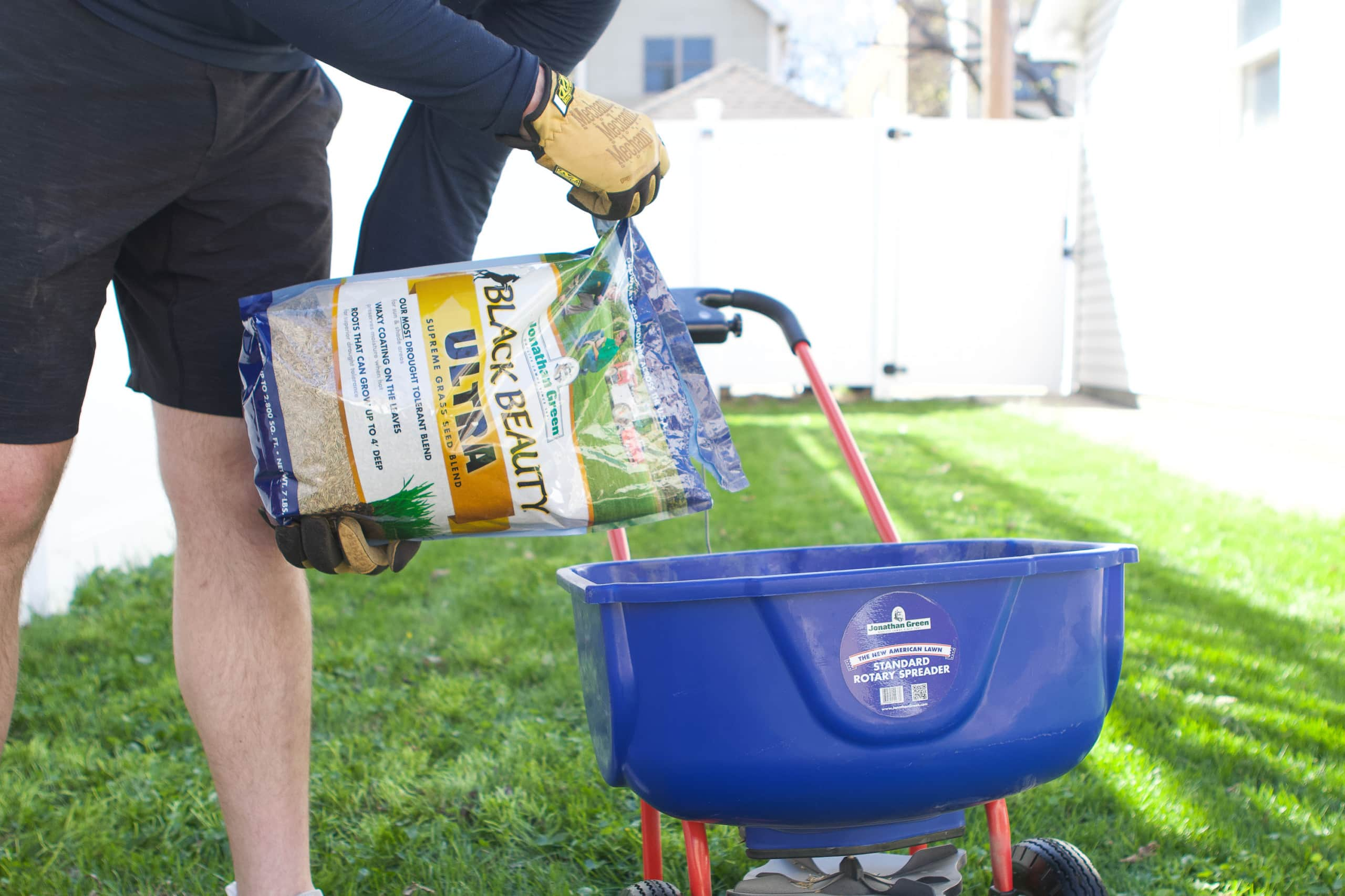 When you prep your lawn for spring, make sure you use grass seed