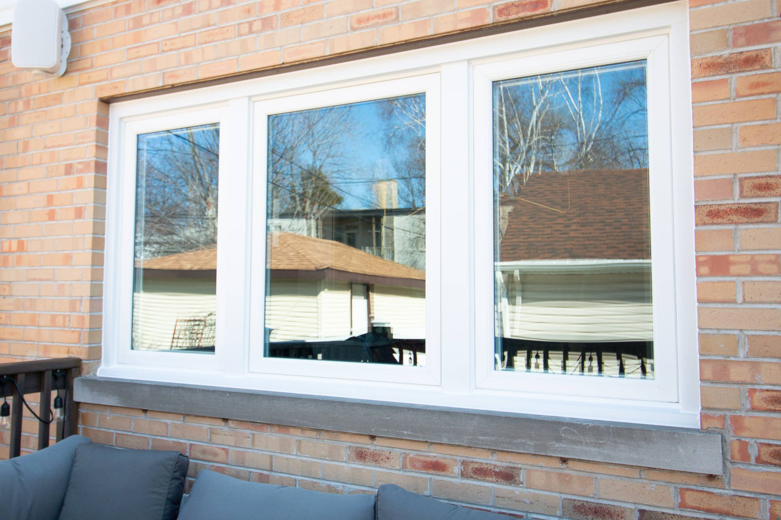 A look at our new replacement windows on the back of the house