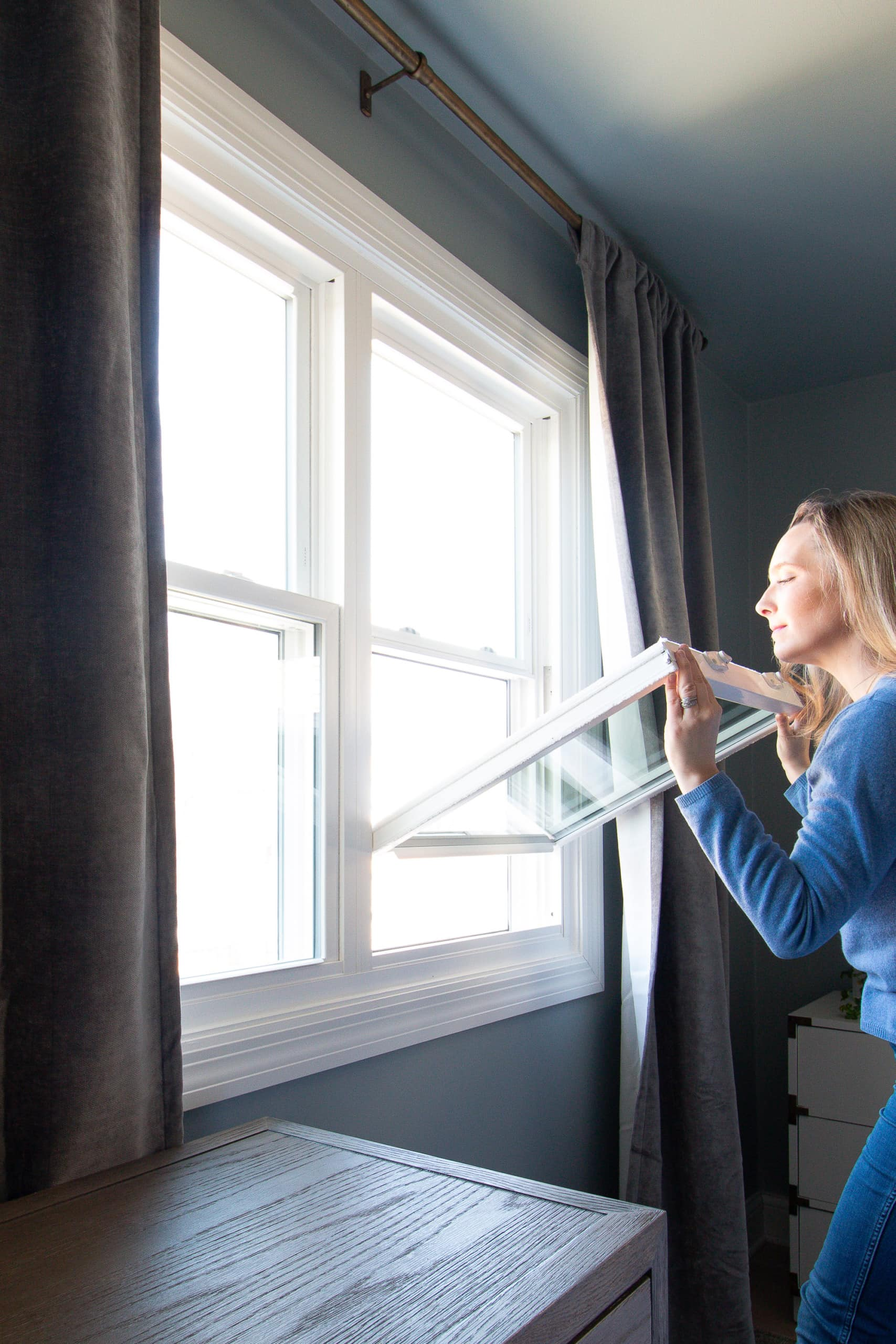 You can tilt out your windows to easily clean them