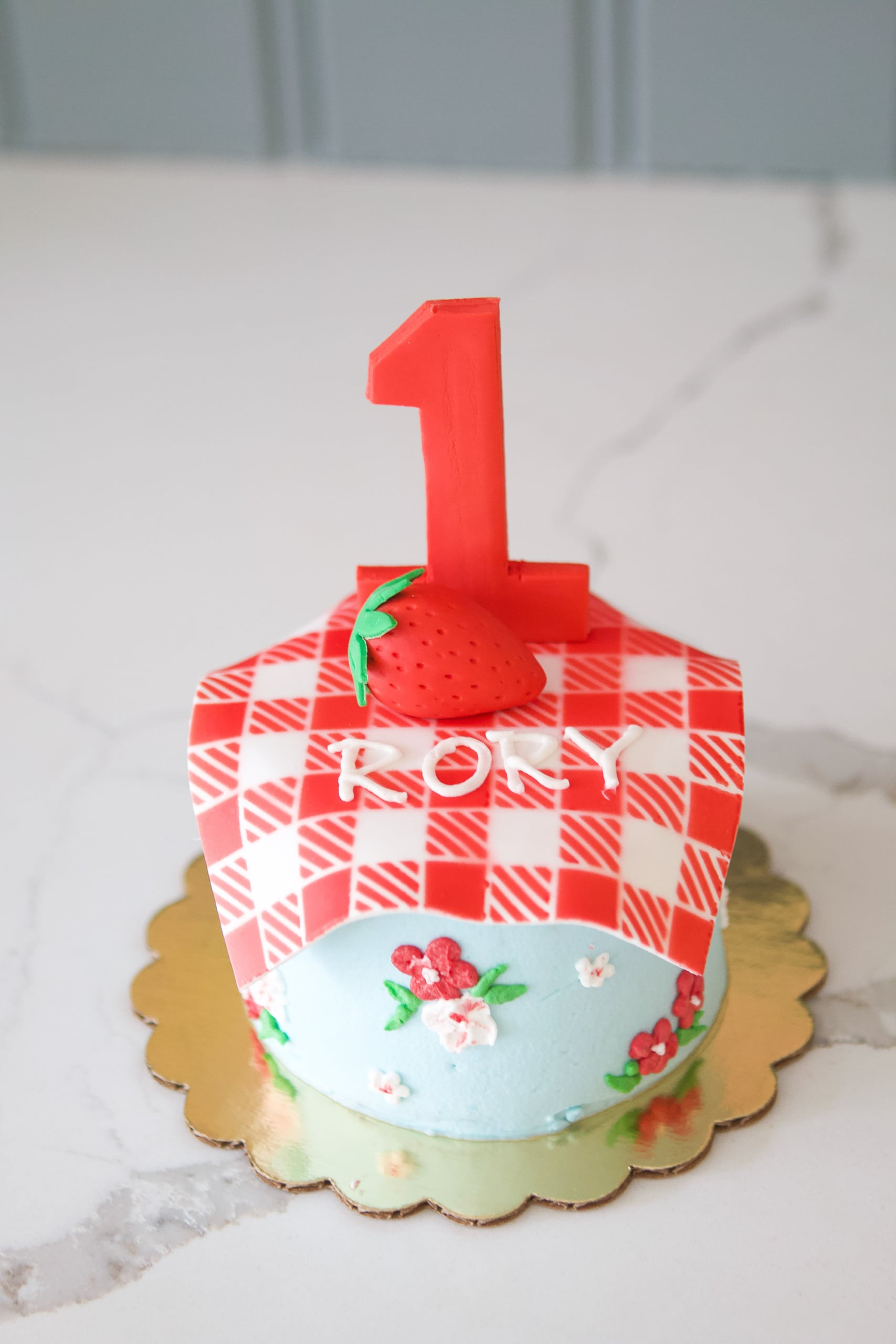 Rory's strawberry themed cake