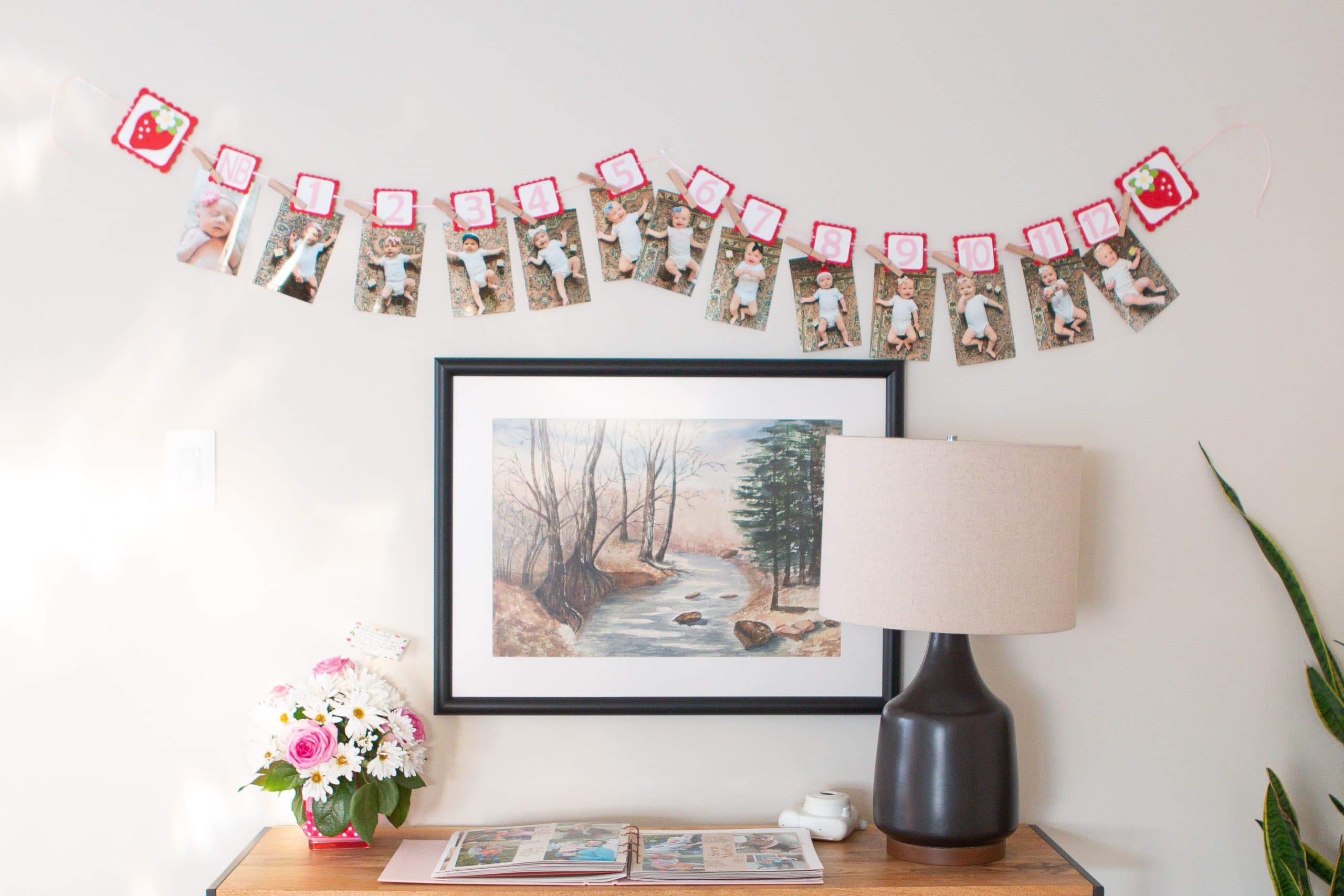 Strawberry banner from Etsy