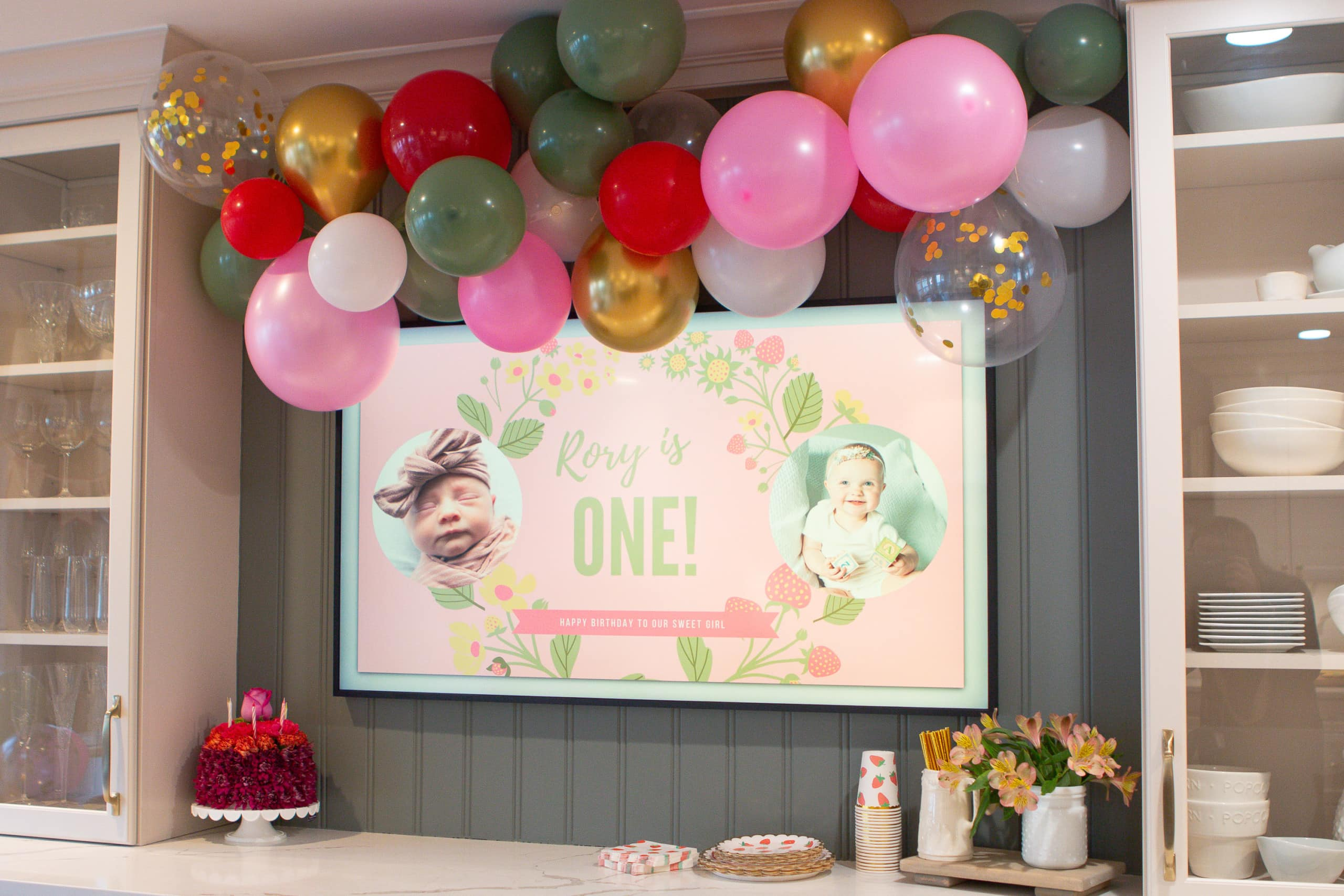 How to decorate for your stawberry themed first birthday party